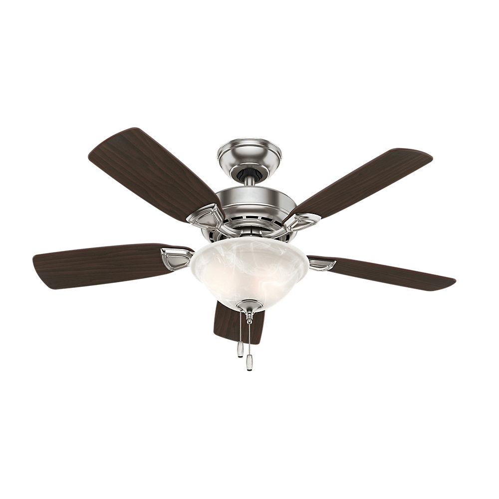 "The Kensington 5 Blade Ceiling Fans Regarding Most Current 44"" Caraway 5 Blade Ceiling Fan, Light Kit Included (View 17 of 20)"