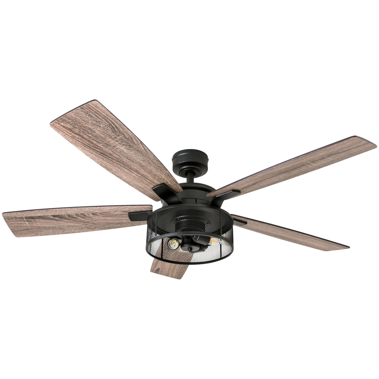 "The Kensington 5 Blade Ceiling Fans Throughout Well Known 52"" Divisadero 5 Blades Led Ceiling Fan Led Light Kit Included (View 7 of 20)"