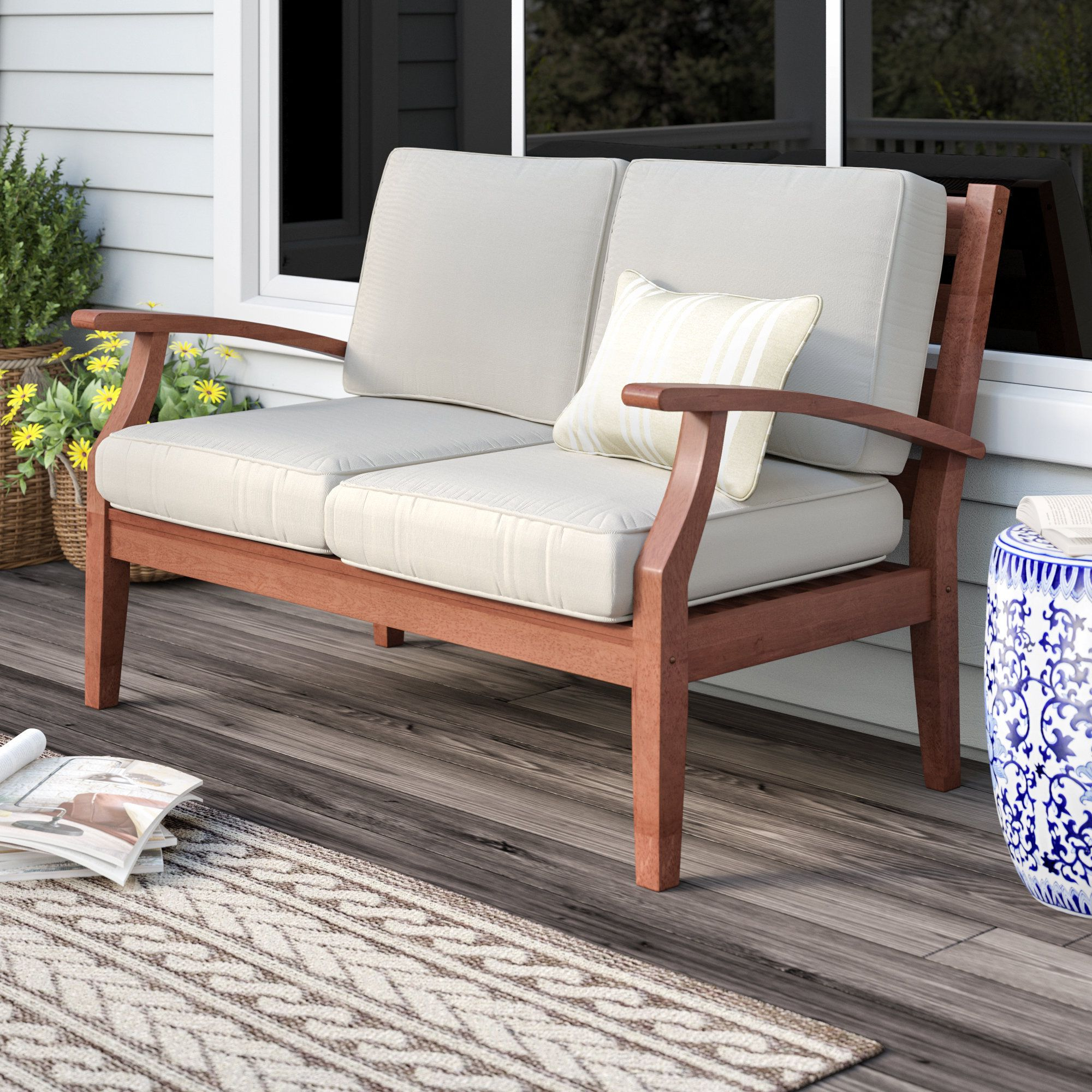 Three Posts Brook Hollow Loveseat In  (View 17 of 20)