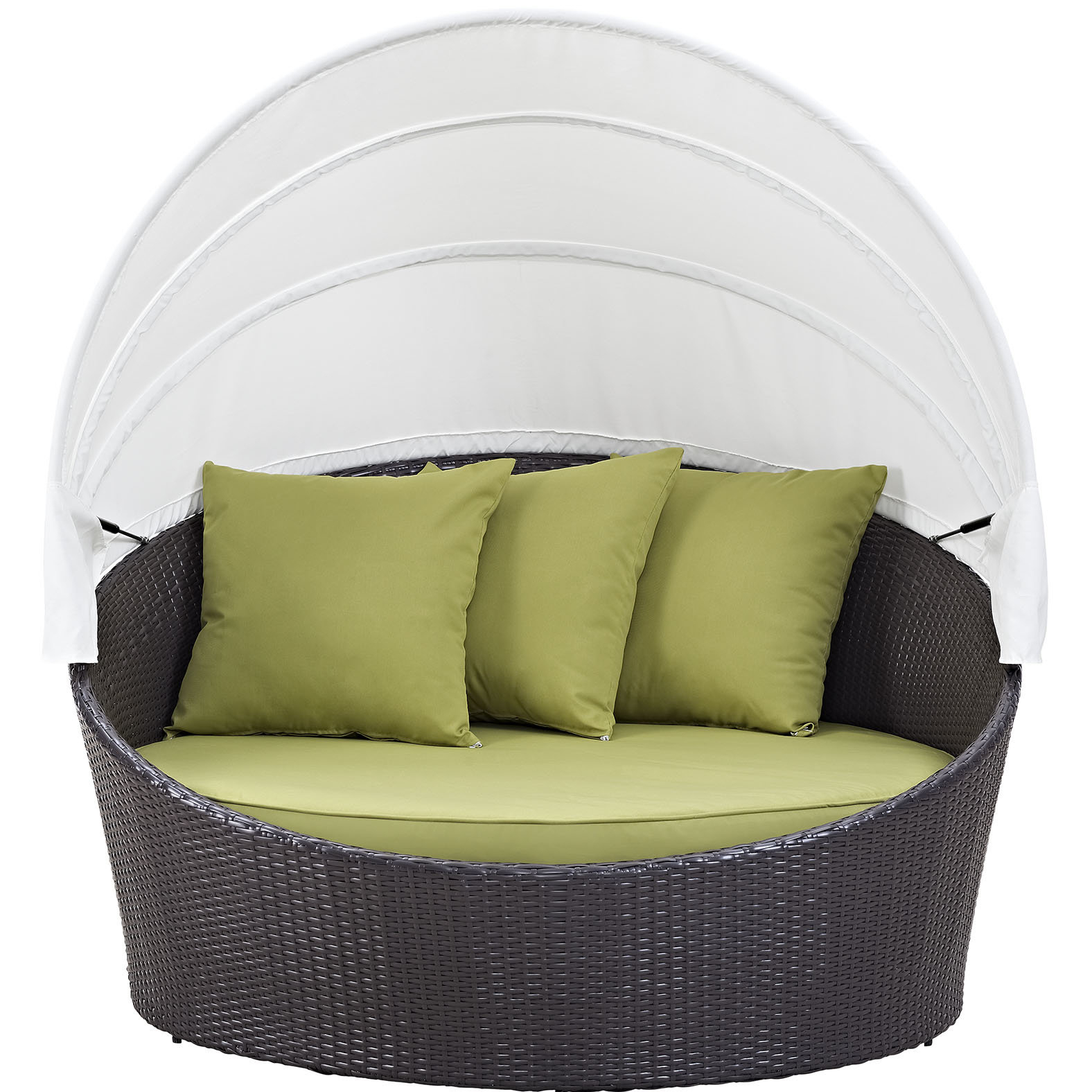 Tiana Patio Daybeds With Cushions Pertaining To Latest Brentwood Canopy Patio Daybed With Cushions (View 19 of 20)