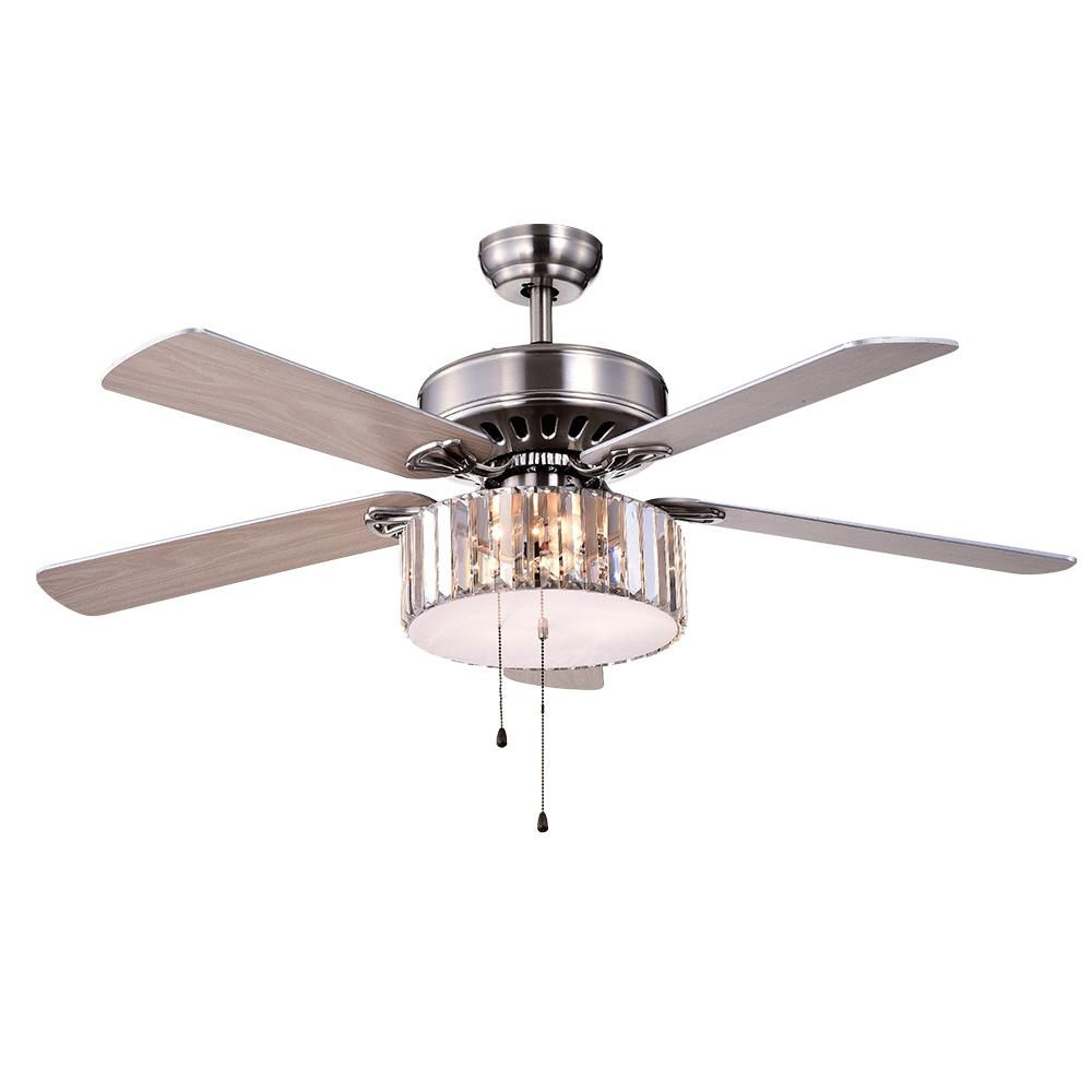 Tibuh Punched Metal Crystal 5 Blade Ceiling Fans With Remote Pertaining To Popular Warehouse Of Tiffany Kimalex 52 In (View 10 of 20)