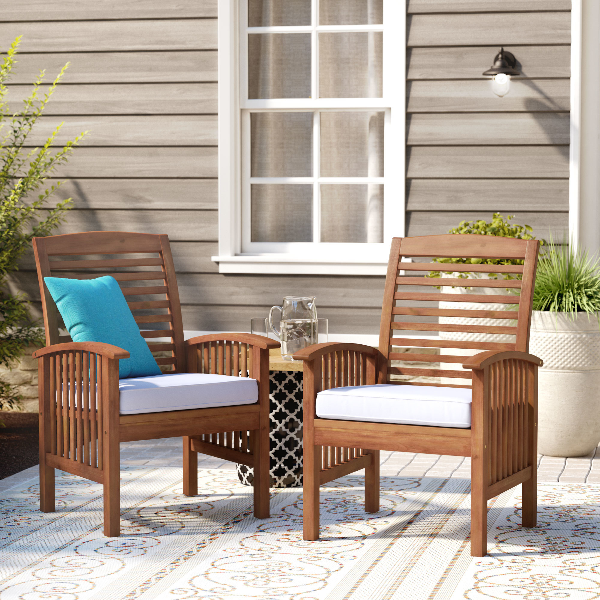 Tim Patio Dining Chair With Cushion Throughout Most Current Tim X Back Patio Loveseats With Cushions (View 12 of 20)