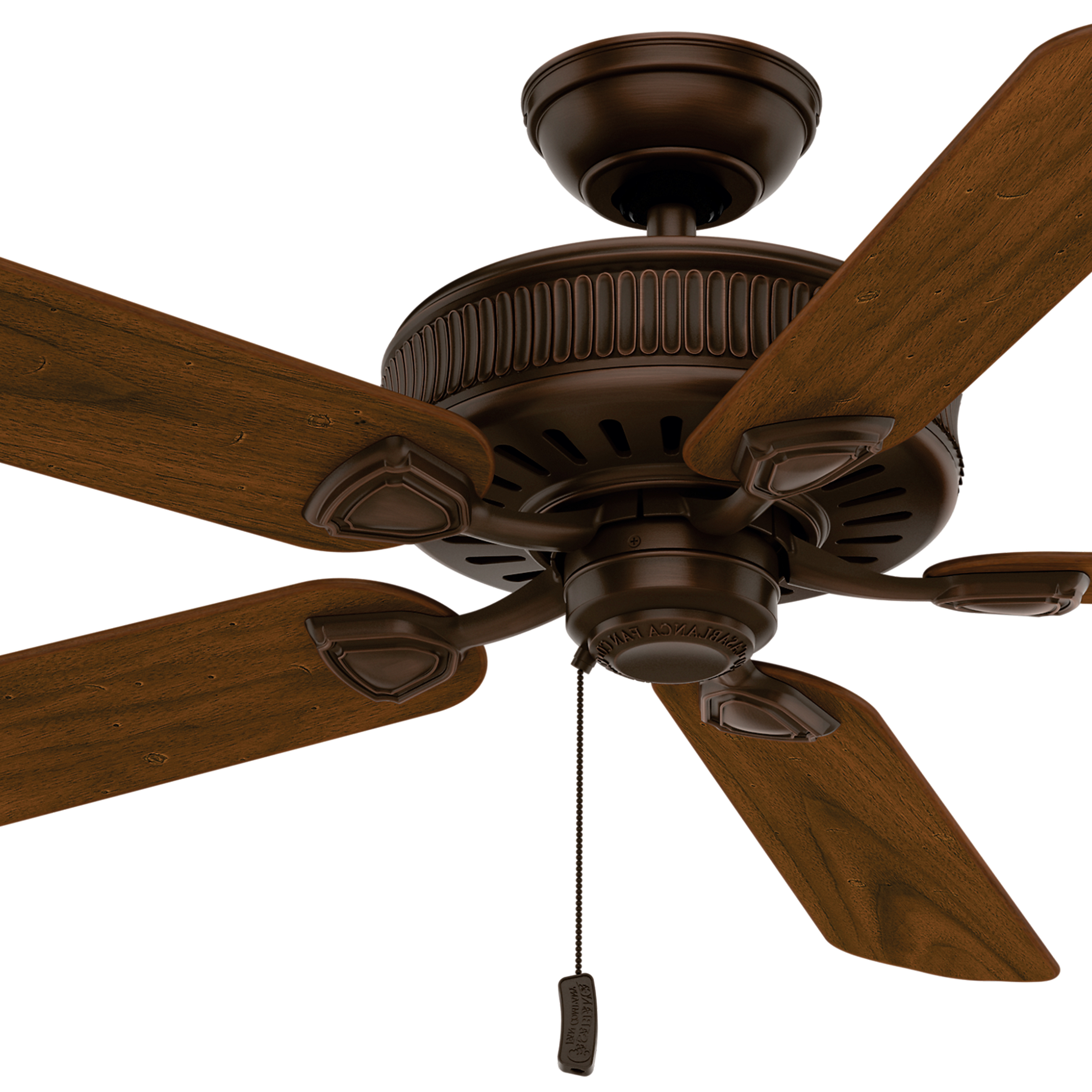 "Timeless 5 Blade Ceiling Fans Pertaining To Favorite Casablanca 54"" Brushed Cocoa Ceiling Fan, 5 Blade (certified Refurbished) (View 19 of 20)"
