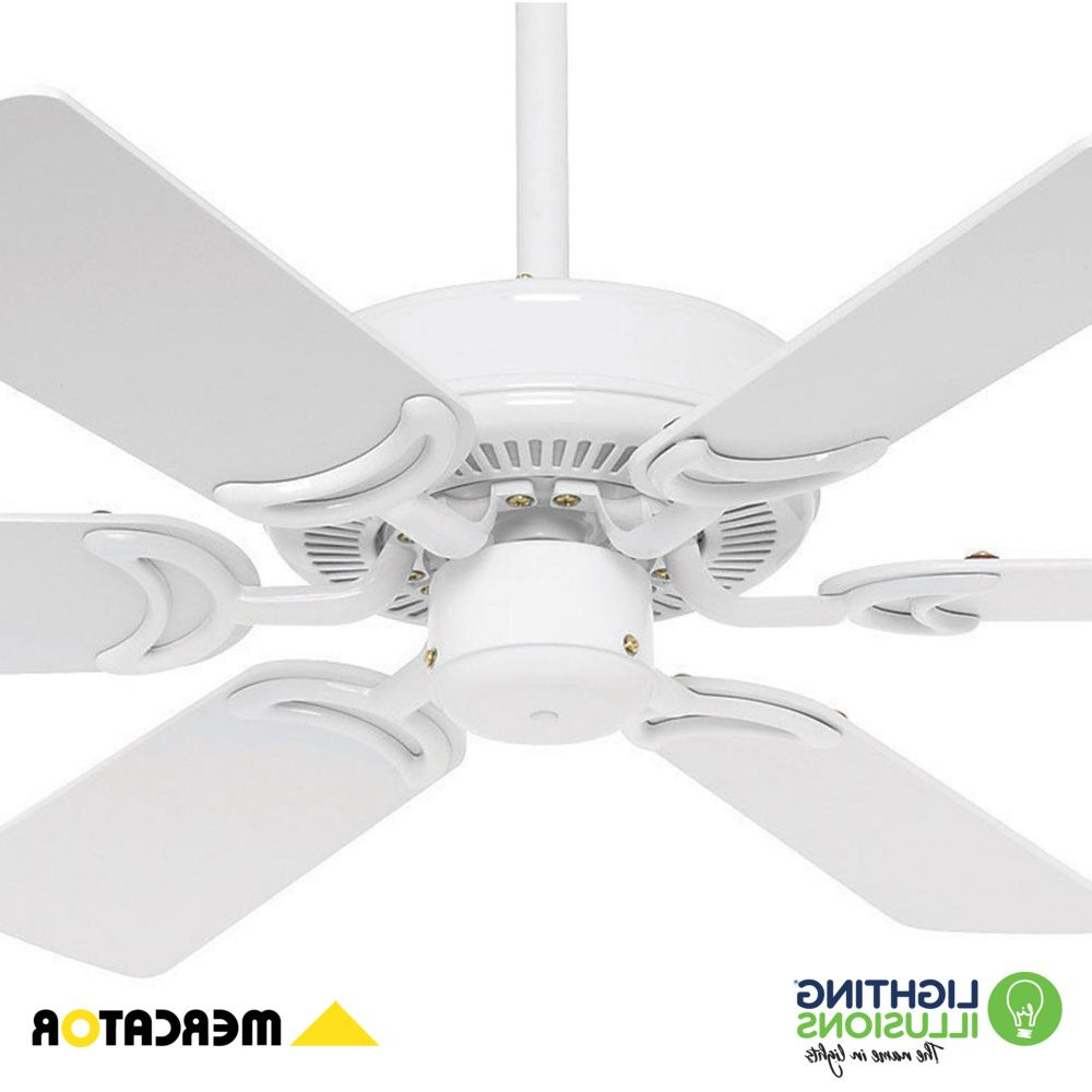 "Timeless 5 Blade Ceiling Fans Regarding Famous White Hamilton 35"" 900mm 6 Timber Blade Ceiling Fan (View 17 of 20)"