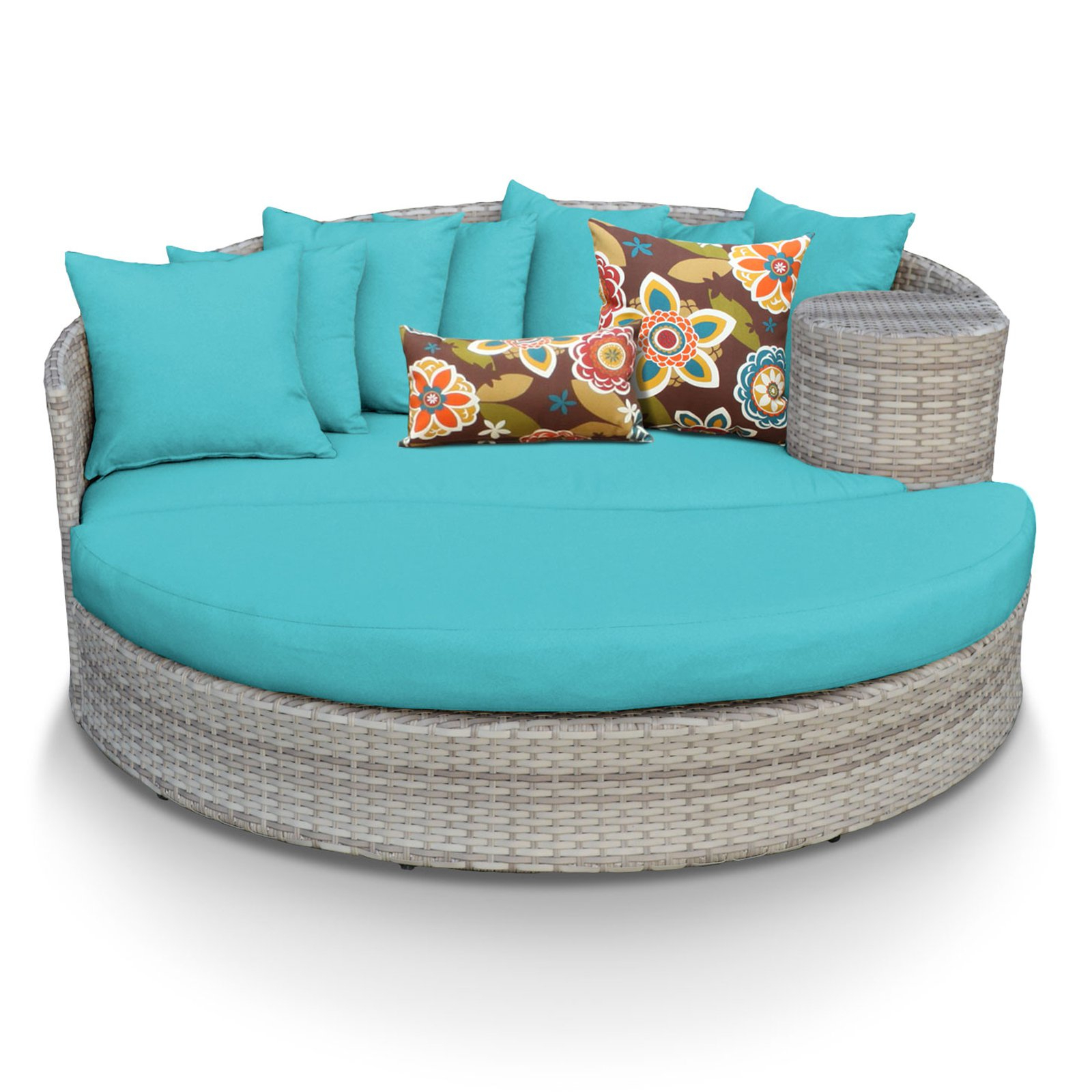 Tk Classics Fairmont All Weather Wicker Outdoor Sun Bed Inside 2019 Falmouth Patio Daybeds With Cushions (View 15 of 20)