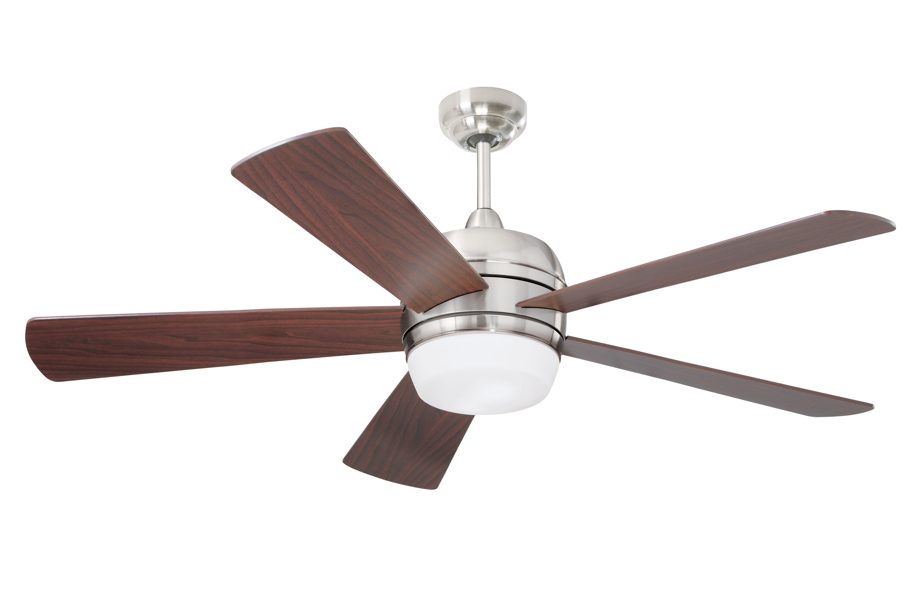 "Trendy 52"" Alleman 5 Blade Led Ceiling Fan For Acero Retro 3 Blade Led Ceiling Fans (View 8 of 20)"
