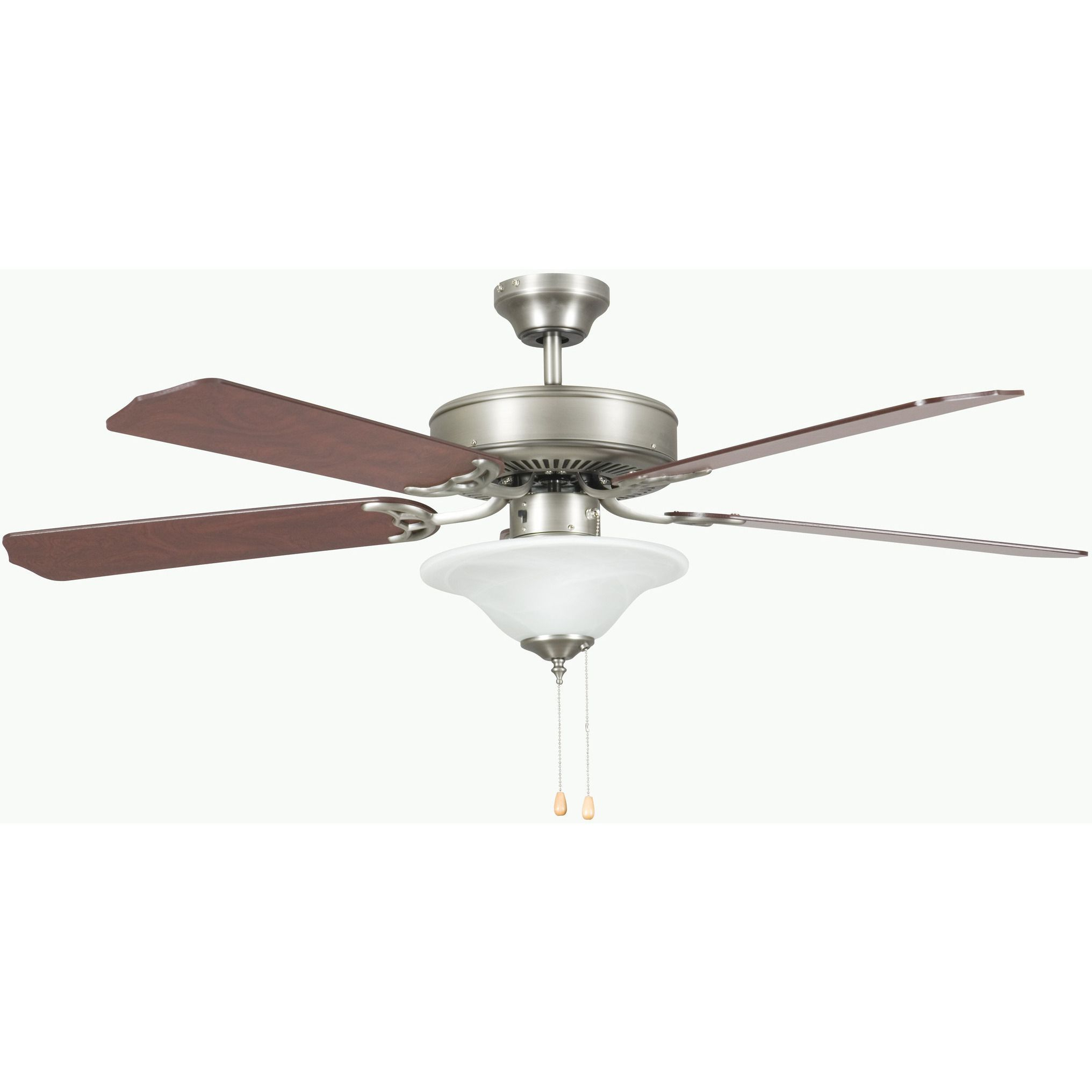 Trendy 52 Inch Heritage Square Fan W/lt Kit – Satin Nickel Energy Intended For Fredericksen 5 Blade Ceiling Fans (View 17 of 20)