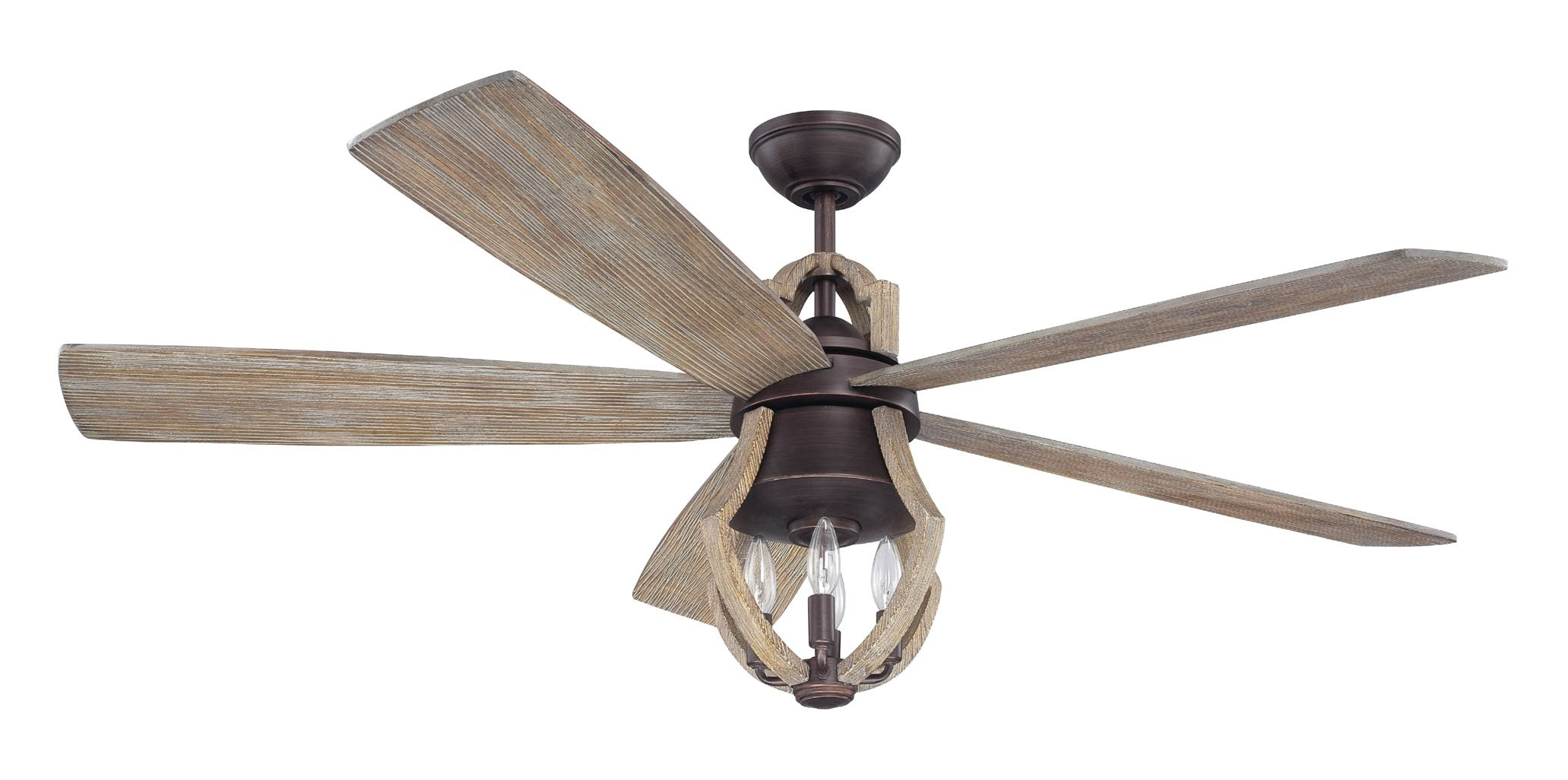 "Trendy 56"" Marcoux 5 Blade Ceiling Fan With Remote, Light Kit Intended For Roberts 5 Blade Ceiling Fans (View 11 of 20)"