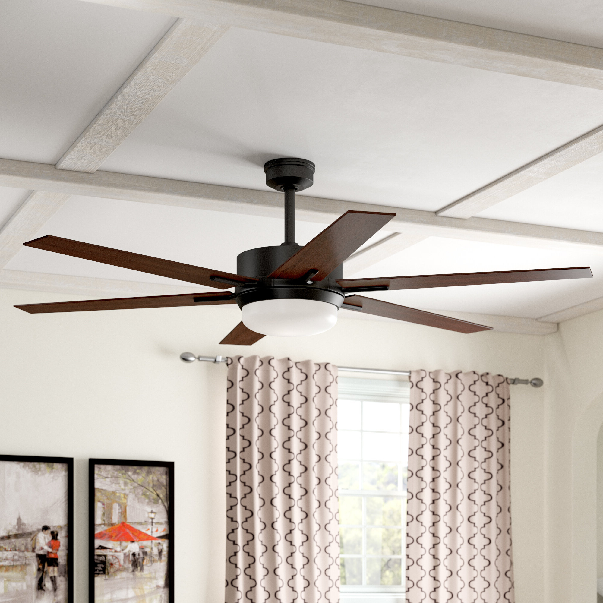 "Trendy 60"" Cillian 6 Blade Ceiling Fan With Remote For Windemere 5 Blade Ceiling Fans With Remote (View 15 of 20)"
