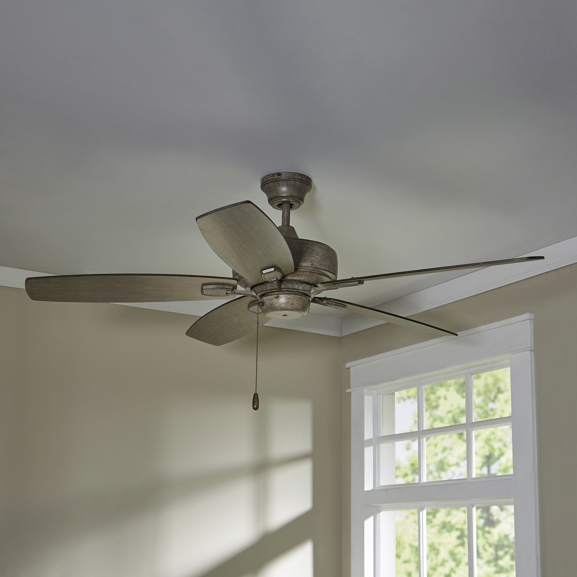 "Trendy Alcott Hill 52"" Bunting 5 Blade Ceiling Fan Intended For Valerian 5 Blade Ceiling Fans (View 15 of 20)"
