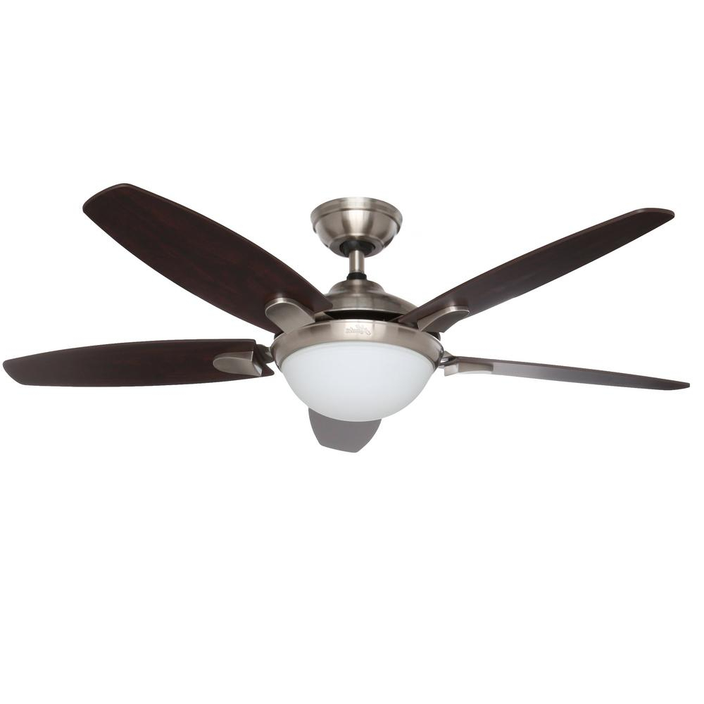 Trendy Banyan 5 Blade Ceiling Fans Inside Hunter Contempo 52 In (View 16 of 20)