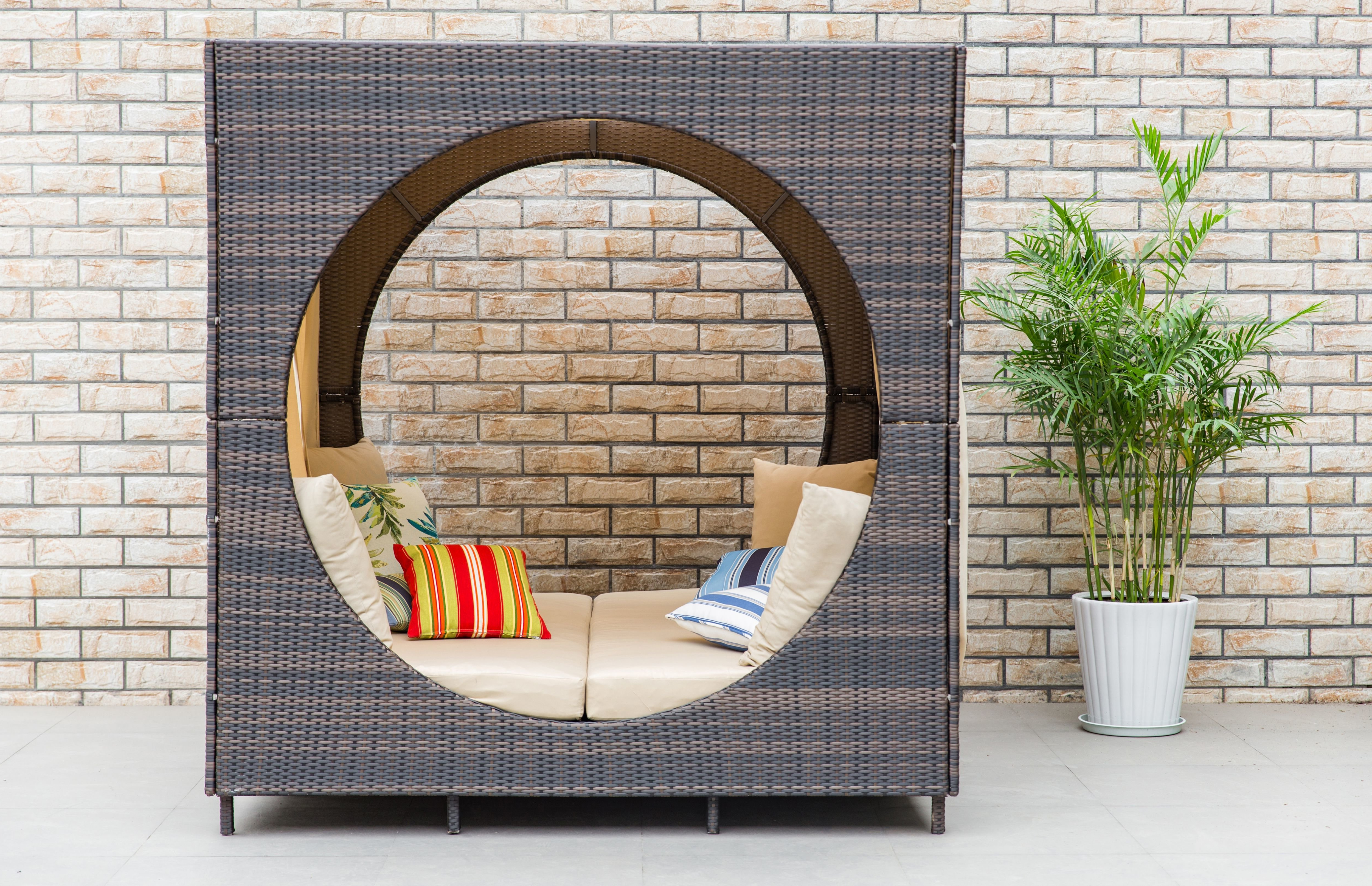 Trendy Brennon Cube Patio Daybeds With Cushions Regarding Chessani Cube Patio Daybed With Cushions (View 1 of 25)