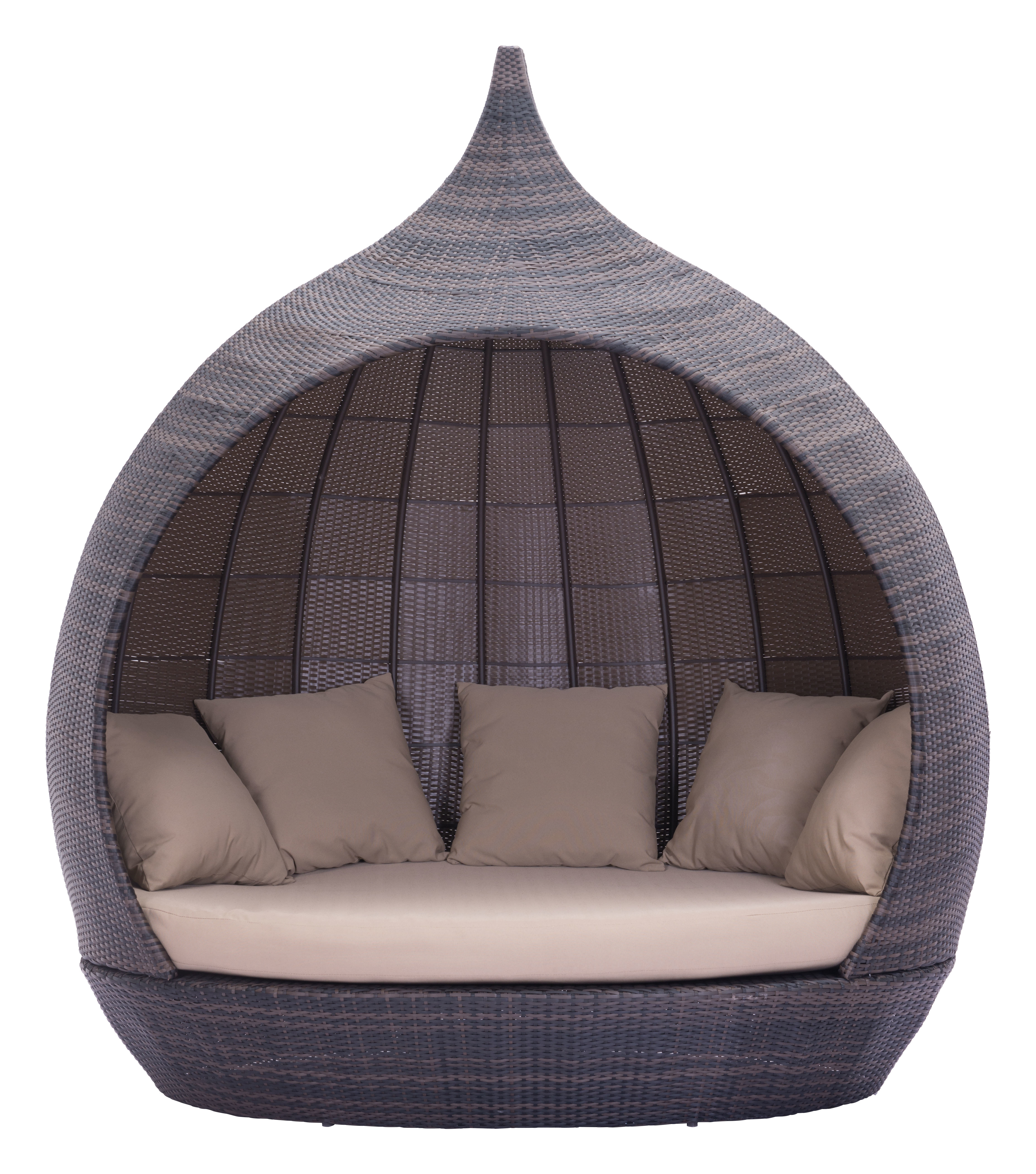 Trendy Brennon Cube Patio Daybeds With Cushions Throughout Hatley Daybed With Cushions (View 6 of 25)