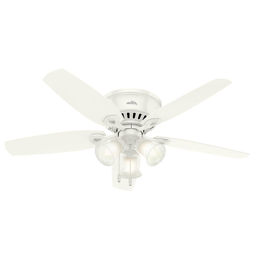 Trendy Builder Low Profile 5 Blade Ceiling Fans For Hunter Builder Low Profile 52 In (View 19 of 20)
