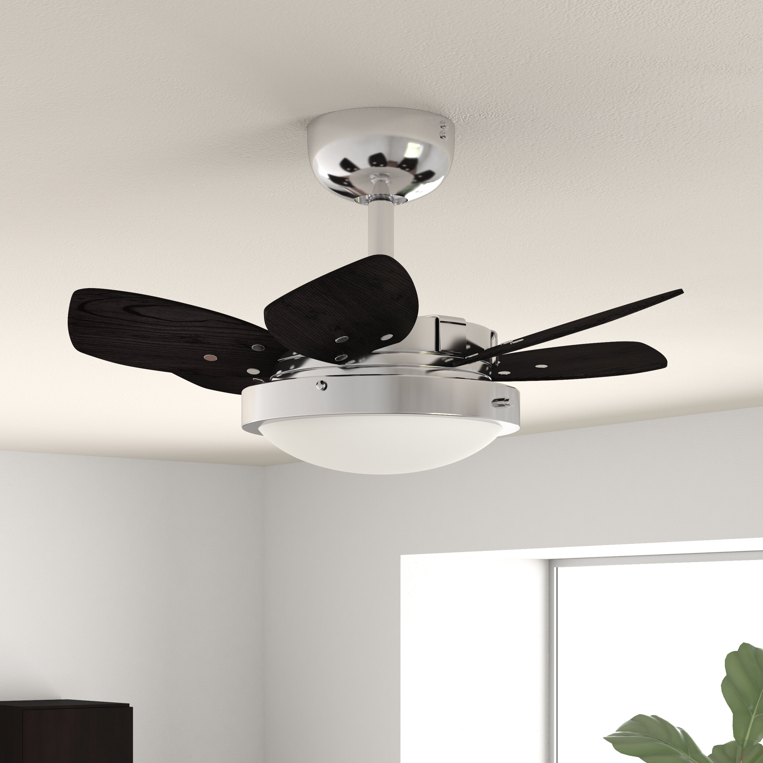 """Trendy Corry 6 Blade Ceiling Fans In 24"""" Corry 6 Blade Ceiling Fan, Light Kit Included (View 2 of 20)"""