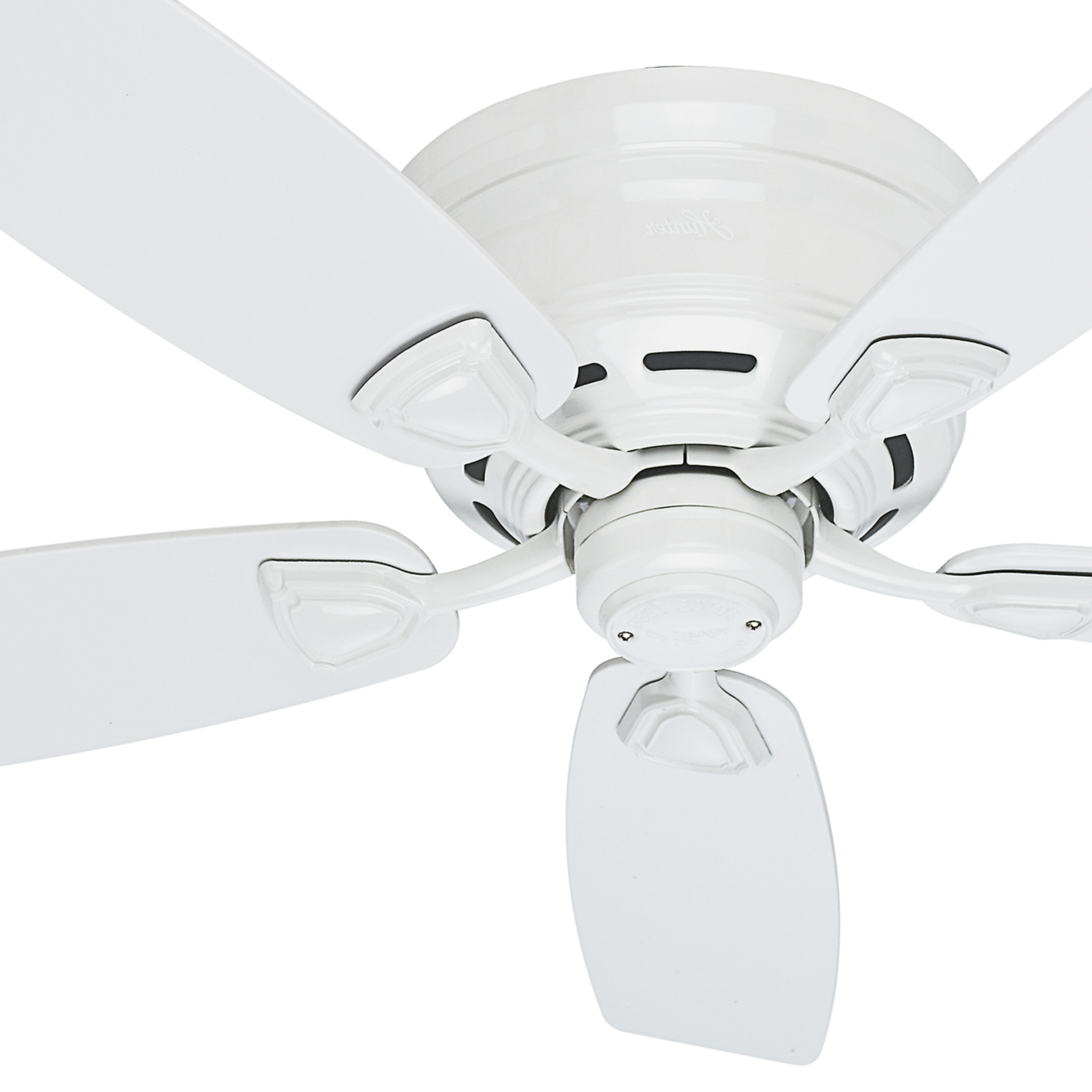 """Trendy Hinter Fan 48"""" Outdoor Hugger Ceiling Fan In White With 5 White Plastic  Blades (Certified Refurbished) Inside Sea Wind 5 Blade Ceiling Fans (View 17 of 20)"""