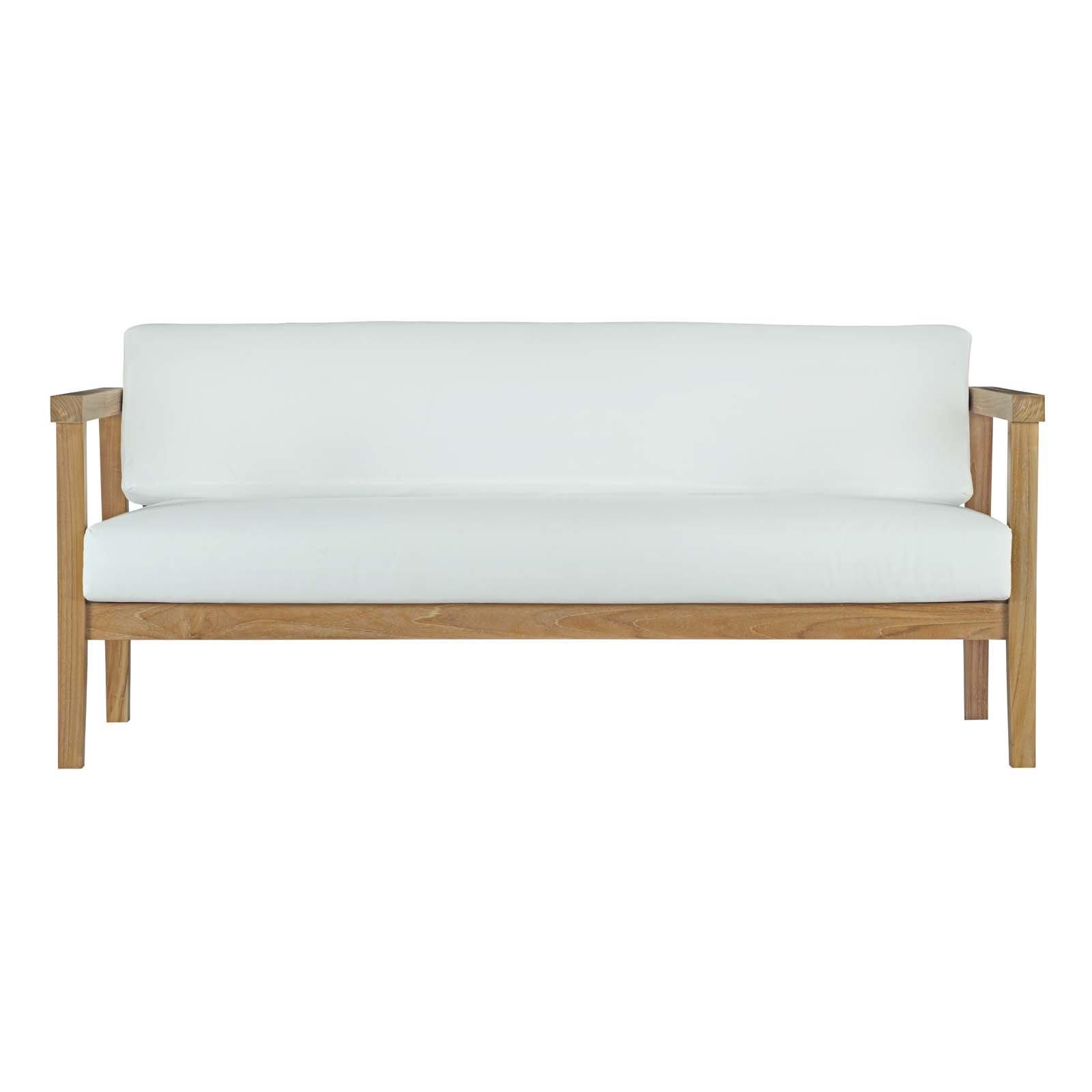 Trendy Montford Teak Loveseats With Cushions Within Modern Loveseat Teak Patio Sofas (View 16 of 20)