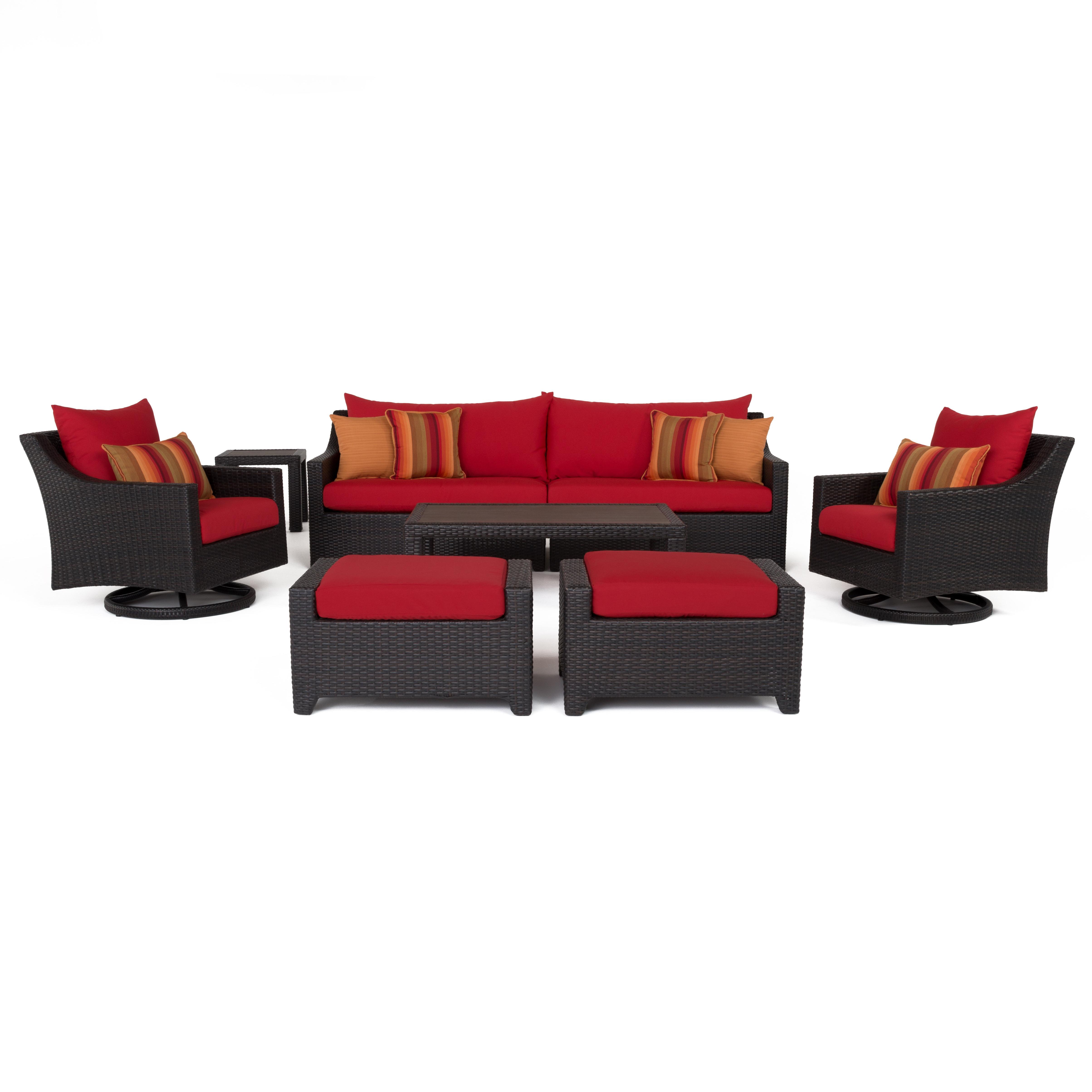 Trendy Northridge 8 Piece Sofa Set With Cushions Inside Northridge Loveseats With Cushions (View 19 of 20)
