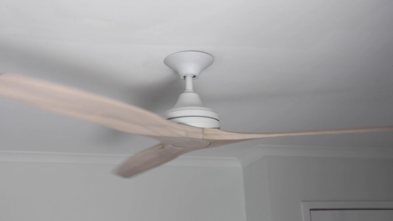 "Trendy Spitfire 3 Blade Ceiling Fans Intended For Spitfire V2 Ceiling Fan – Matte White With Natural Blades 60"" (View 17 of 20)"