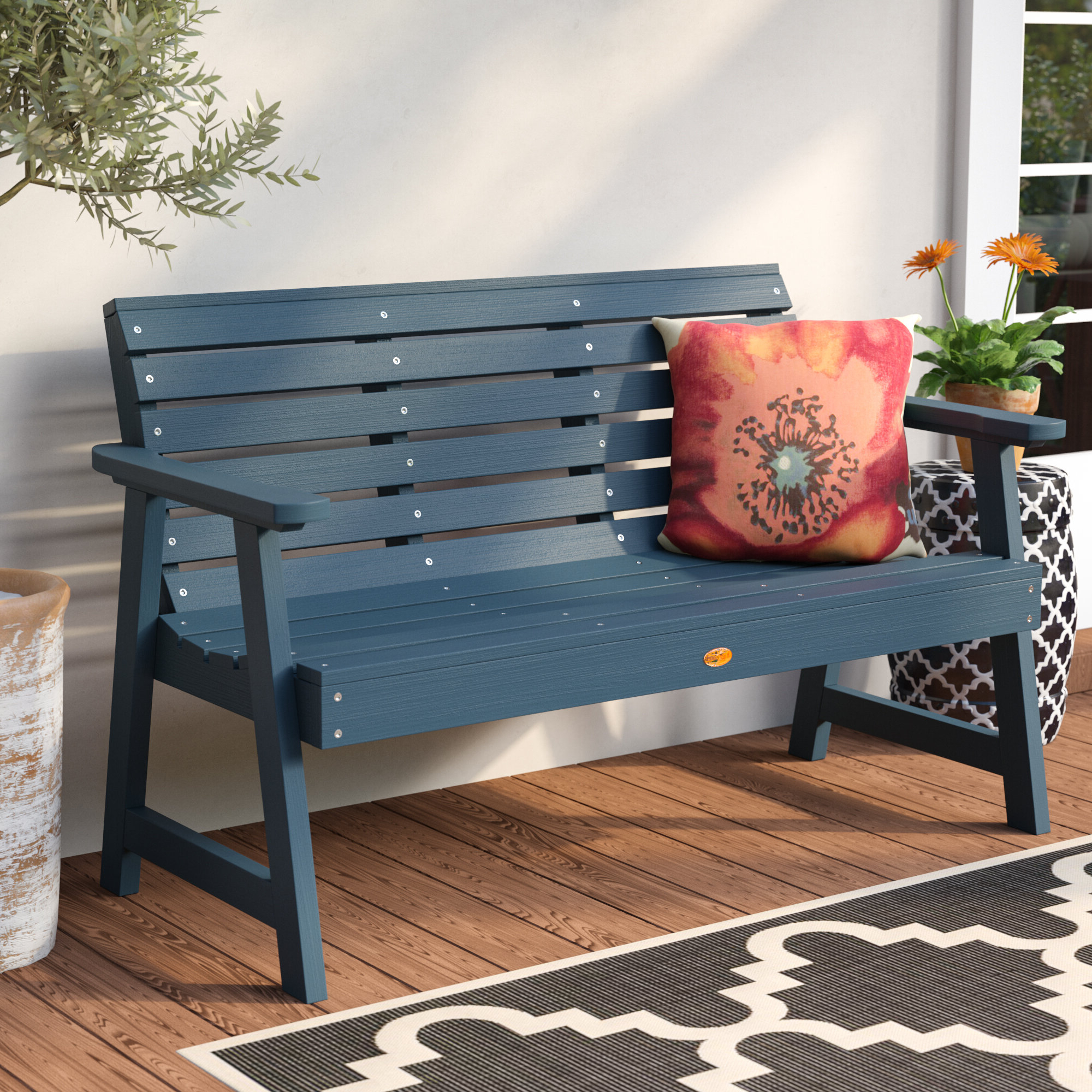 Trigg Synthetic Wood Garden Bench Throughout Widely Used Bence Plastic Outdoor Garden Benches (View 9 of 25)