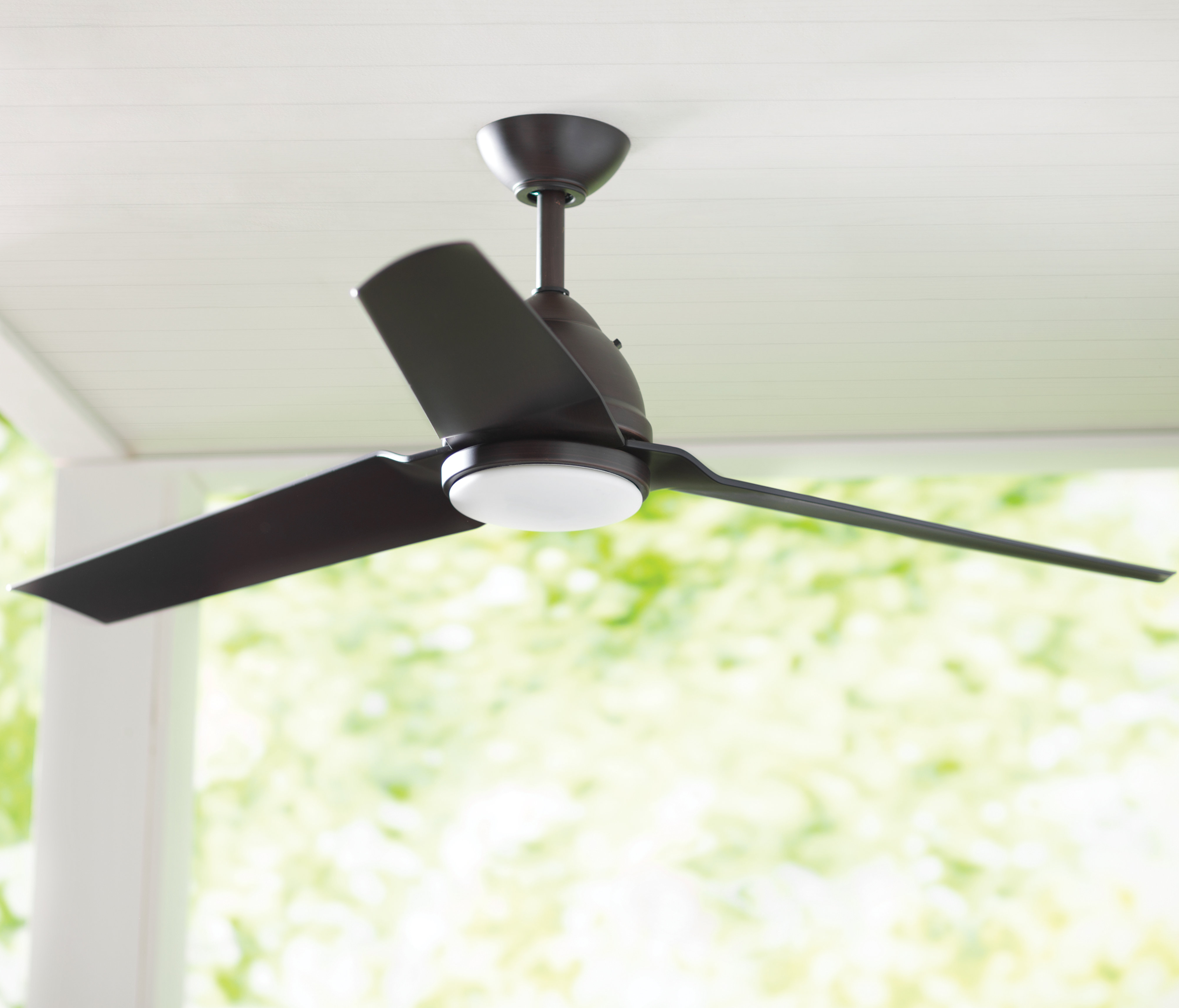 """Troxler 3 Blade Ceiling Fans For Most Recent 54"""" Java 3 Blade Outdoor Led Ceiling Fan With Remote, Light Kit (View 11 of 20)"""