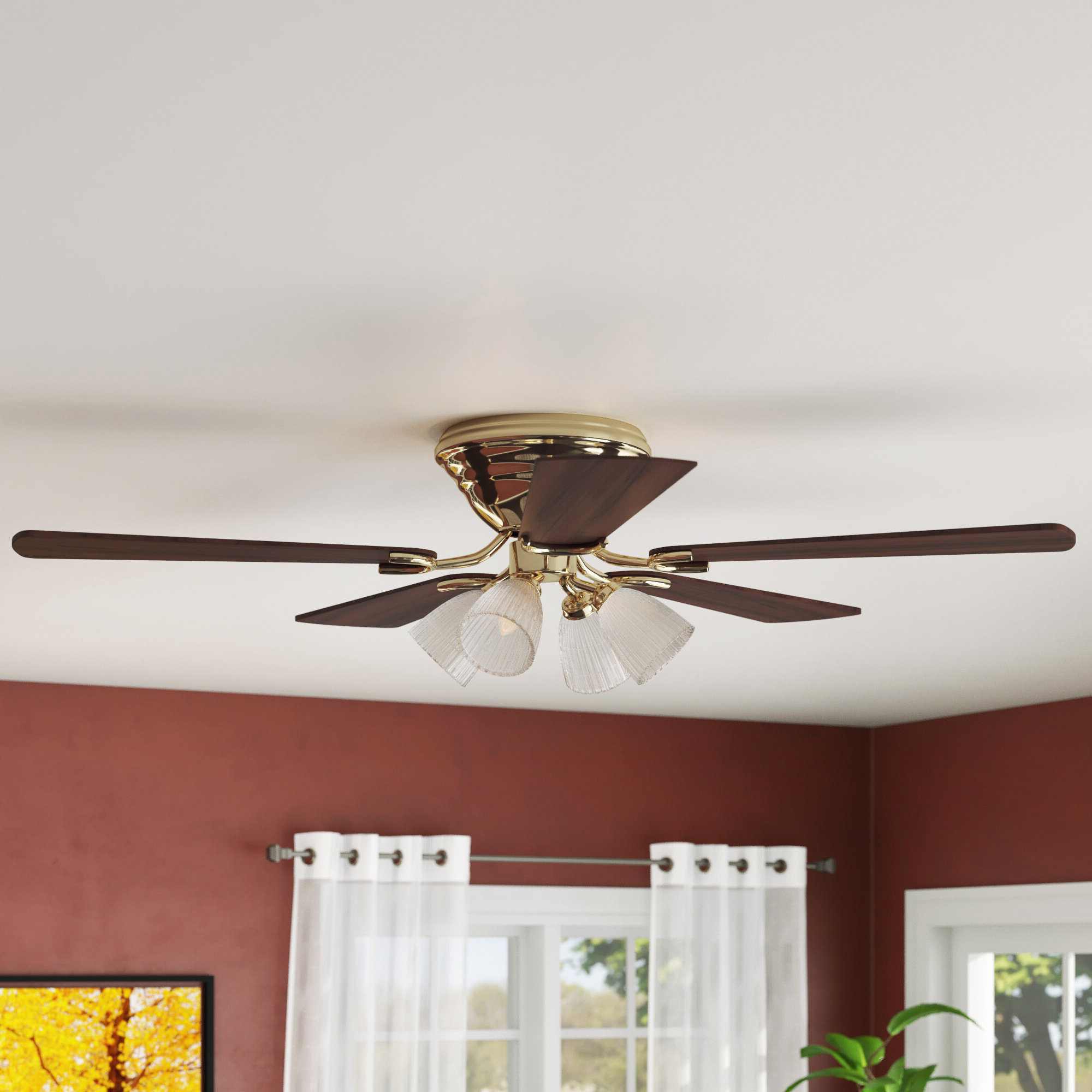 "Truesdale 3 Blades Ceiling Fans Intended For Newest Charlton Home 52"" Rosenblatt 5 Blade Ceiling Fan & Reviews (View 14 of 20)"
