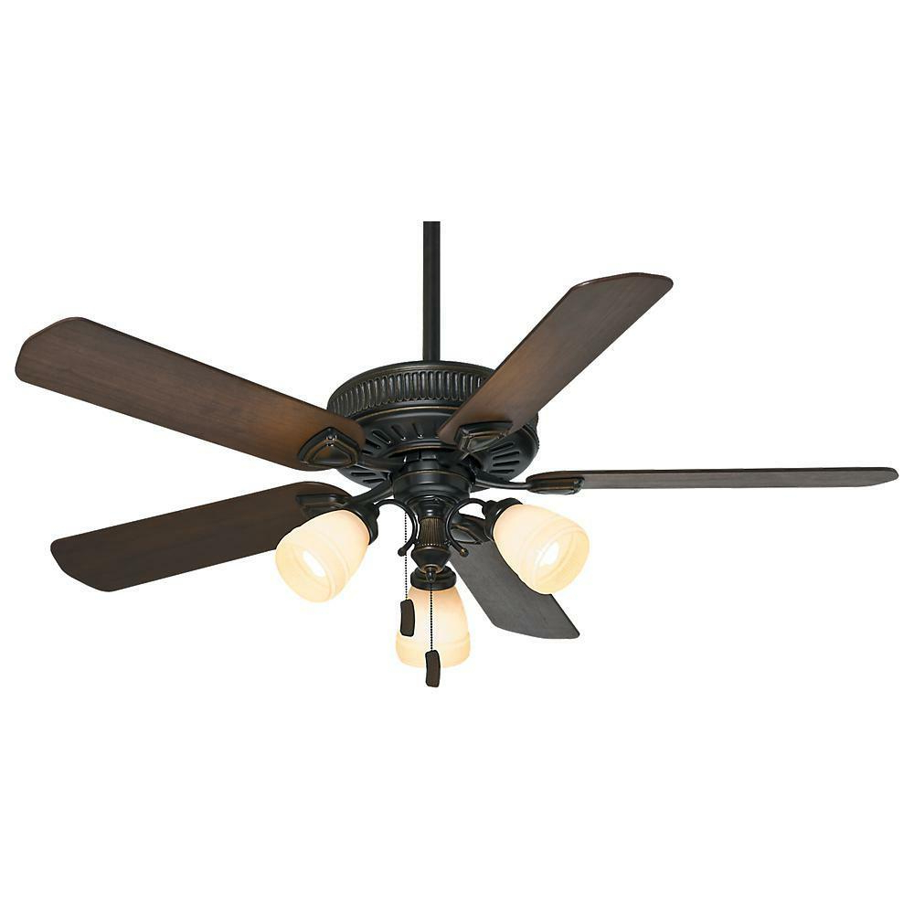 "Valerian 5 Blade Ceiling Fans For Well Known Casablanca 54007, Ainsworth Gallery Basque Black 54"" Ceiling Fan With Light (View 17 of 20)"