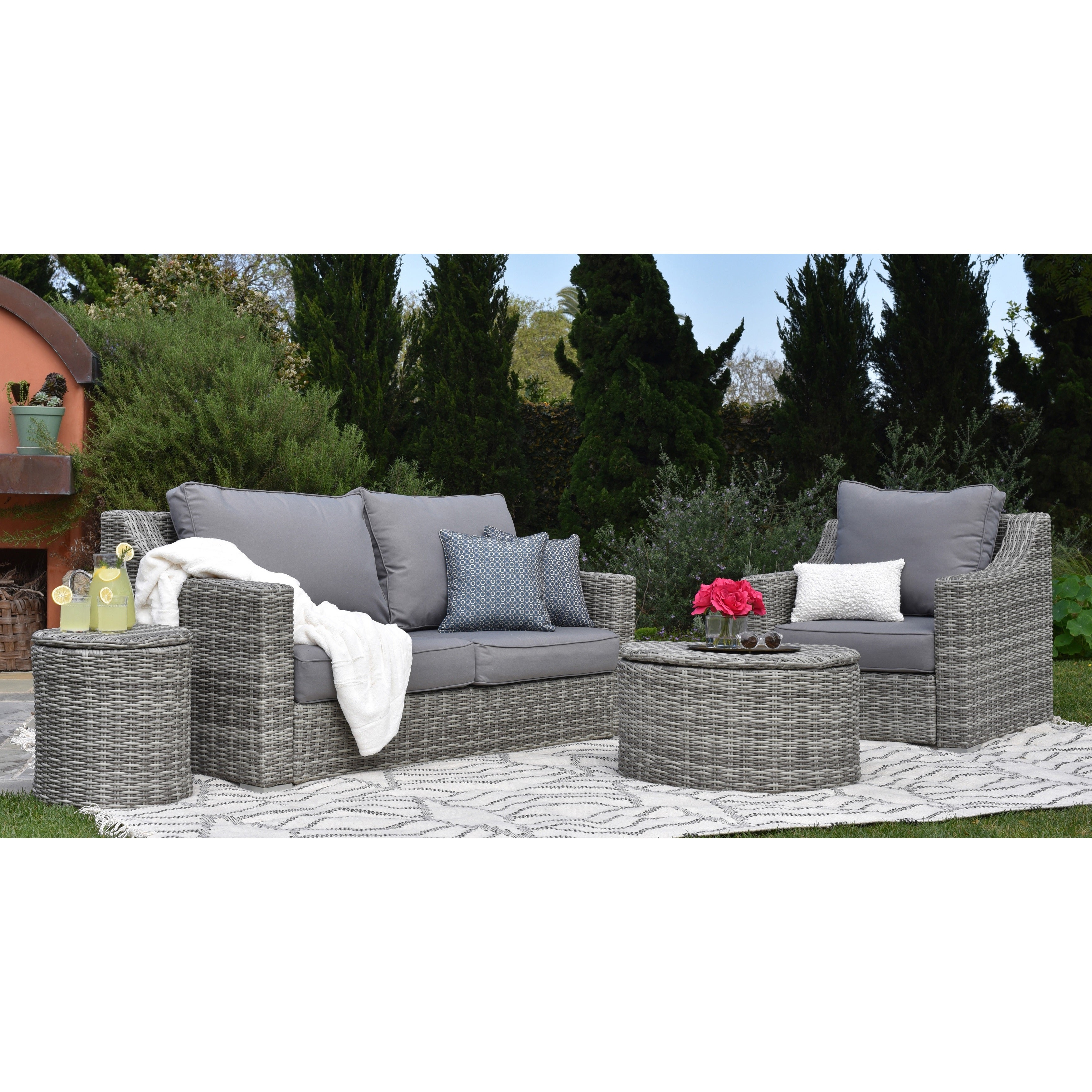 Vallauris Sofa With Cushions Intended For Well Liked Elle Decor Vallauris Outdoor Arm Chair (View 15 of 20)