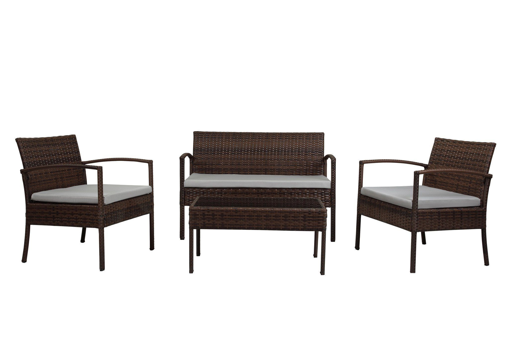 W Unlimited Lucy Collection Outdoor Garden Black Wicker Regarding Popular Bullock Outdoor Wooden Loveseats With Cushions (View 18 of 20)