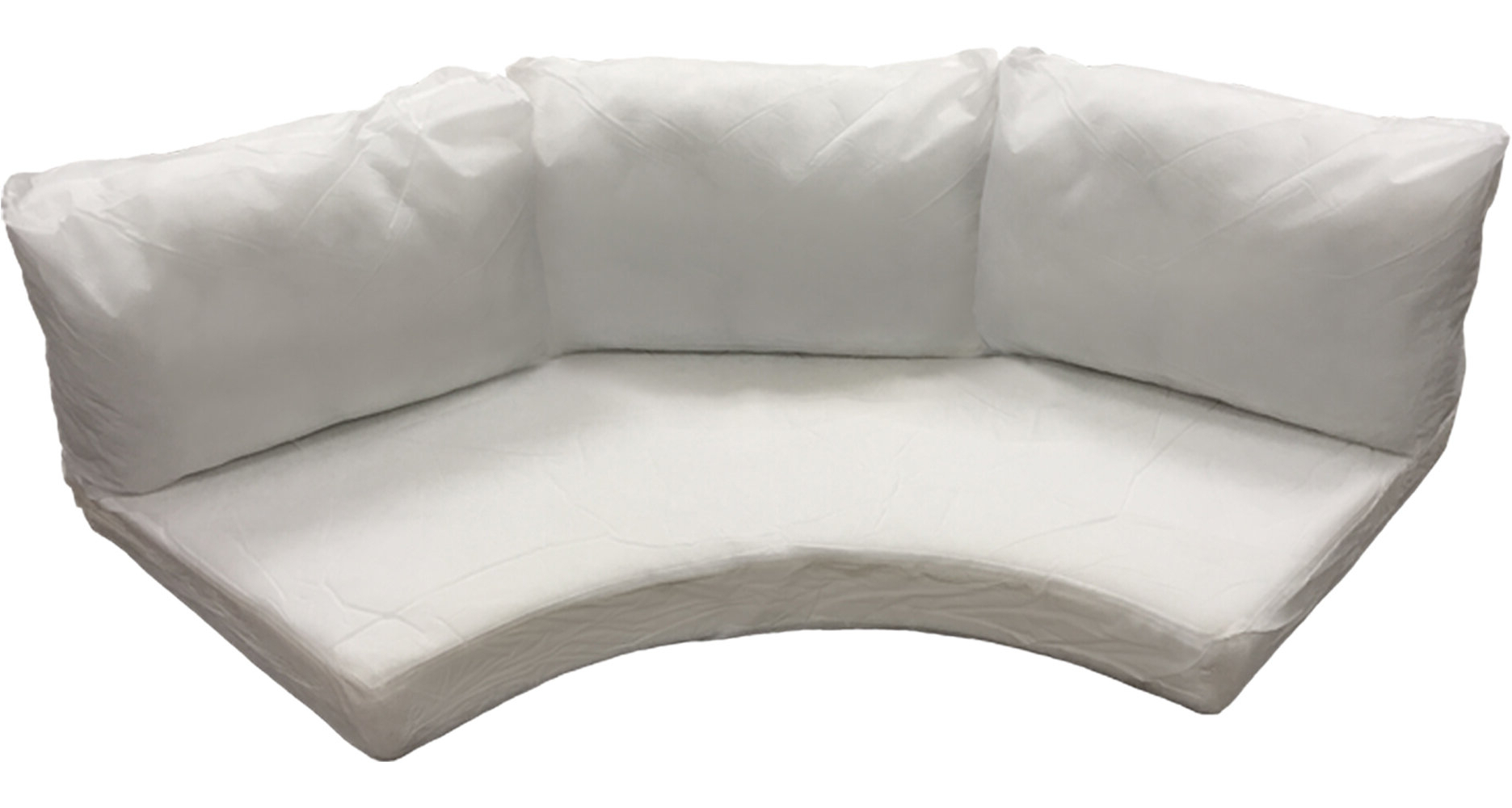 Waterbury Outdoor 8 Piece Curved Armless Cushion Set Inside Latest Waterbury Curved Armless Sofa With Cushions (View 16 of 20)