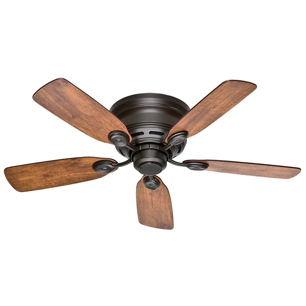 """Watson 5 Blade Ceiling Fans Intended For Well Liked Hunter Fan 42"""" Low Profile® Iv 5 Blade Ceiling Fan & Reviews (View 16 of 20)"""