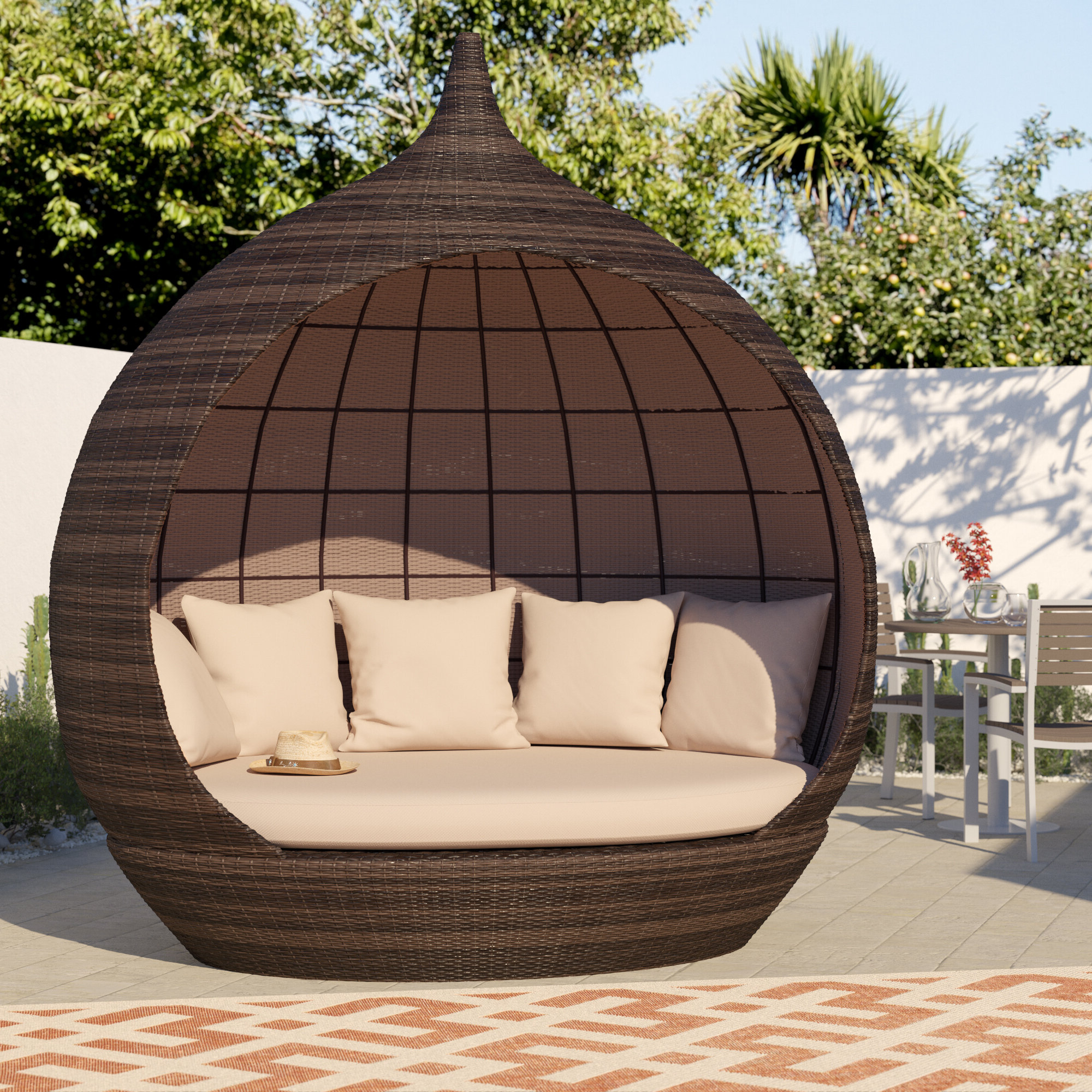 Wayfair Inside Newest Lammers Outdoor Wicker Daybeds With Cushions (View 20 of 20)
