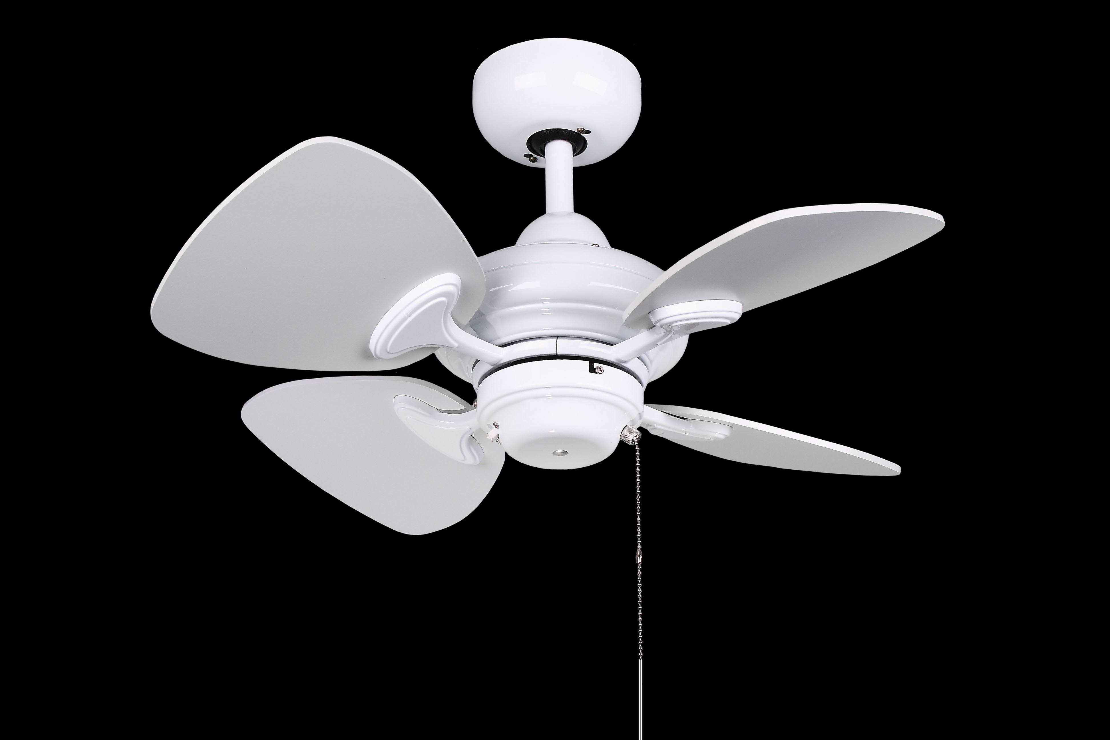 """Well Known 24"""" Leddy 4 Blade Ceiling Fan Intended For Stewardson 4 Blade Ceiling Fans (View 18 of 20)"""