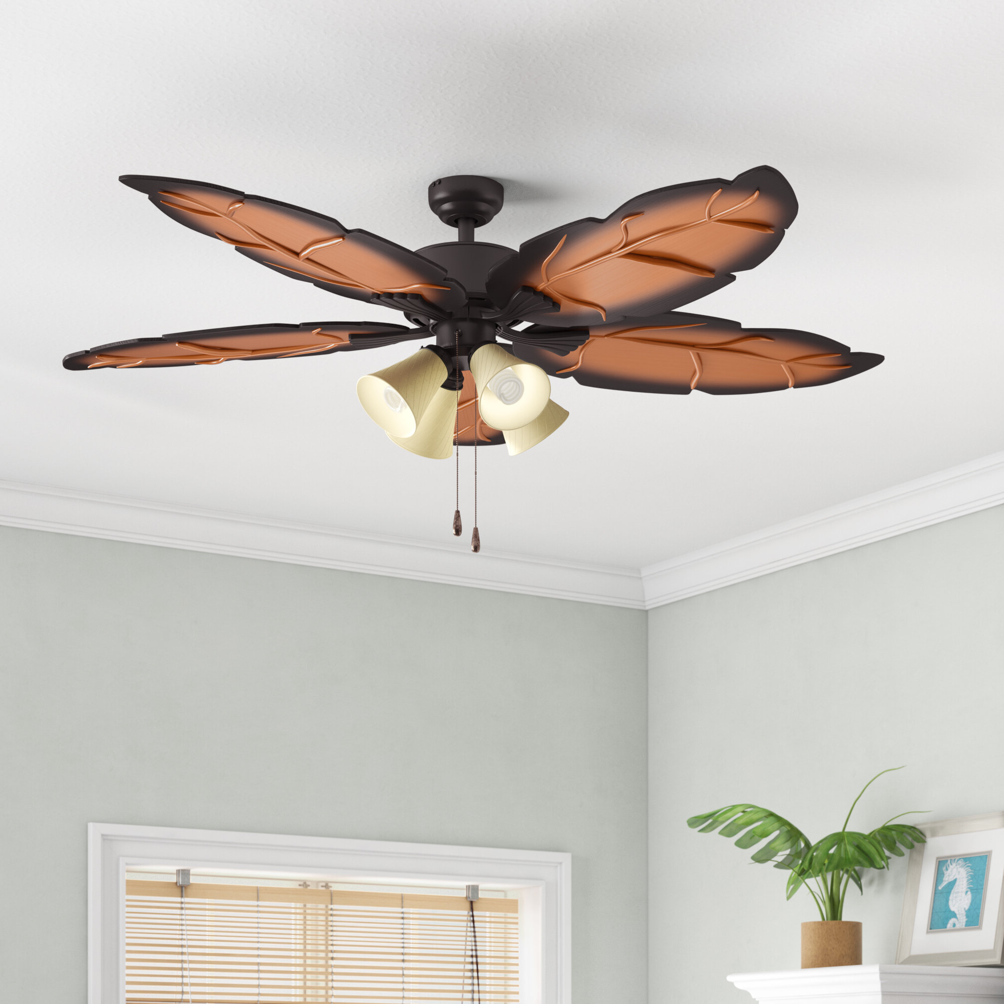 "Well Known 52"" Elderfield 5 Blade Ceiling Fan Pertaining To Kalista 5 Blade Ceiling Fans (View 18 of 20)"