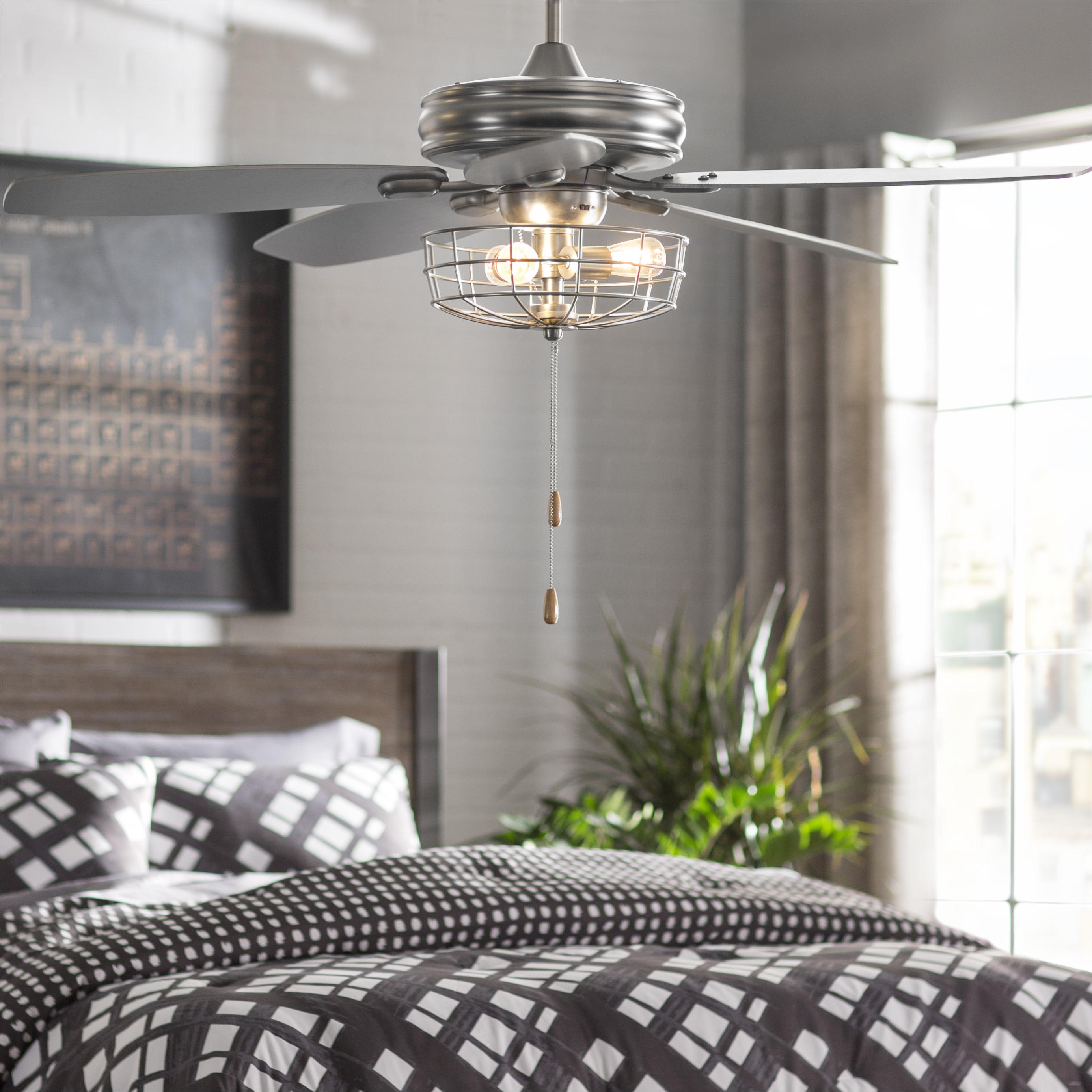 """Well Known 52"""" Kyla 5 Blade Ceiling Fan, Light Kit Included Within Kyla 5 Blade Ceiling Fans (View 2 of 20)"""