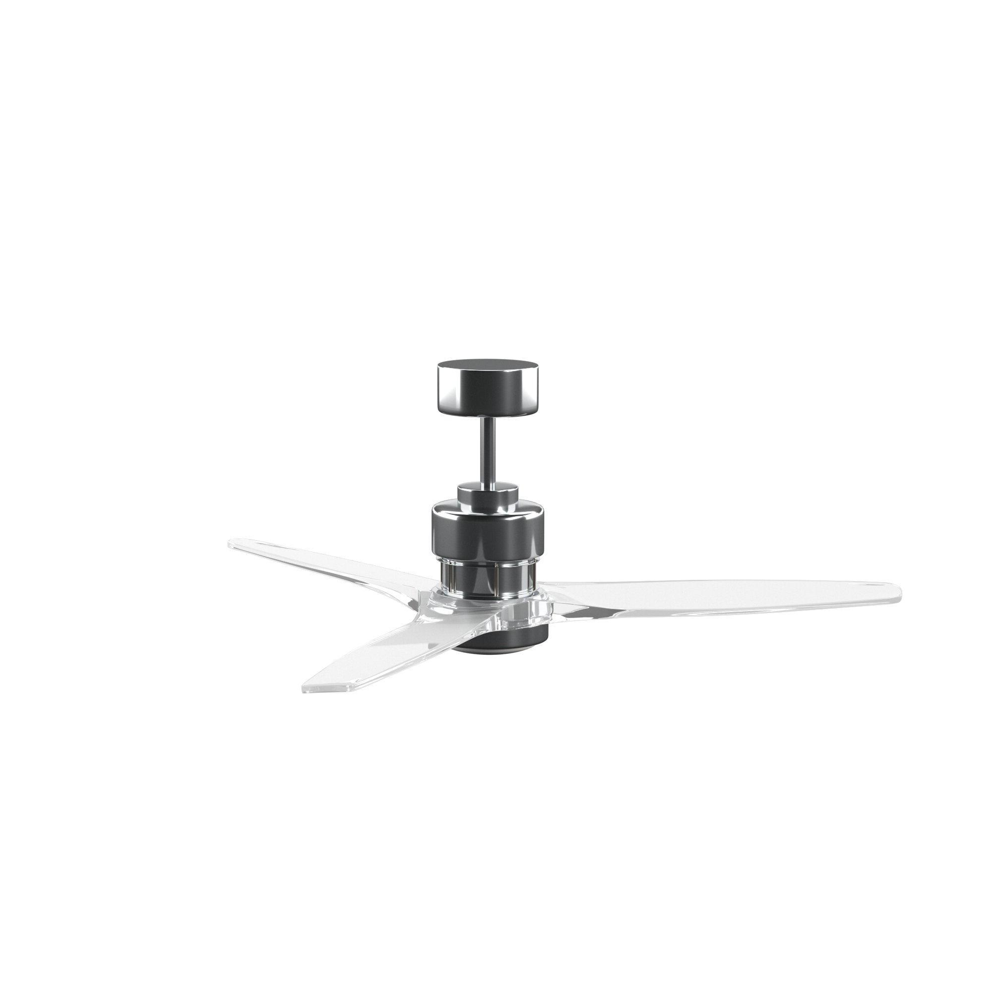 "Well Known 52"" Mcdaniels 3 Blade Led Ceiling Fan With Remote, Light Kit Included Inside Loft 3 Blade Ceiling Fans (View 18 of 20)"