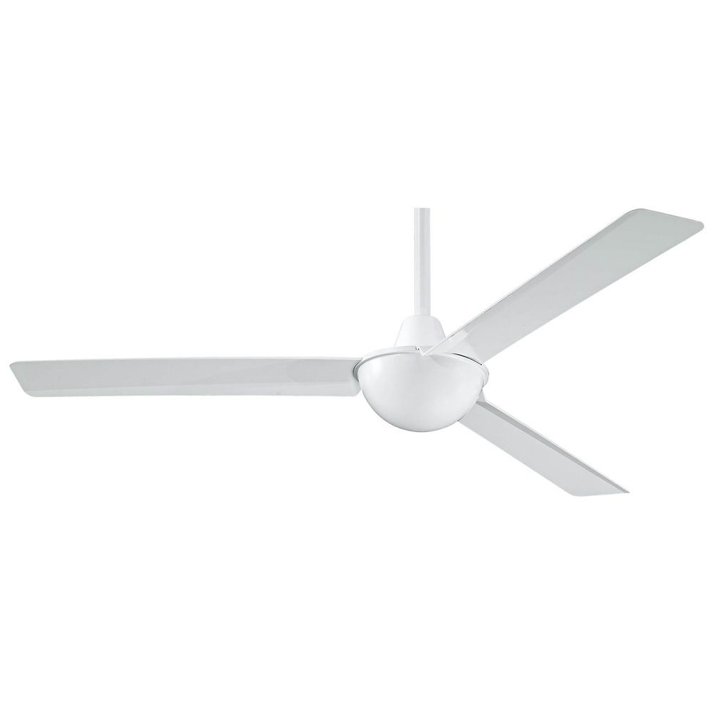"Well Known 52"" Minka Aire Kewl White Ceiling Fan – #4H (View 15 of 20)"