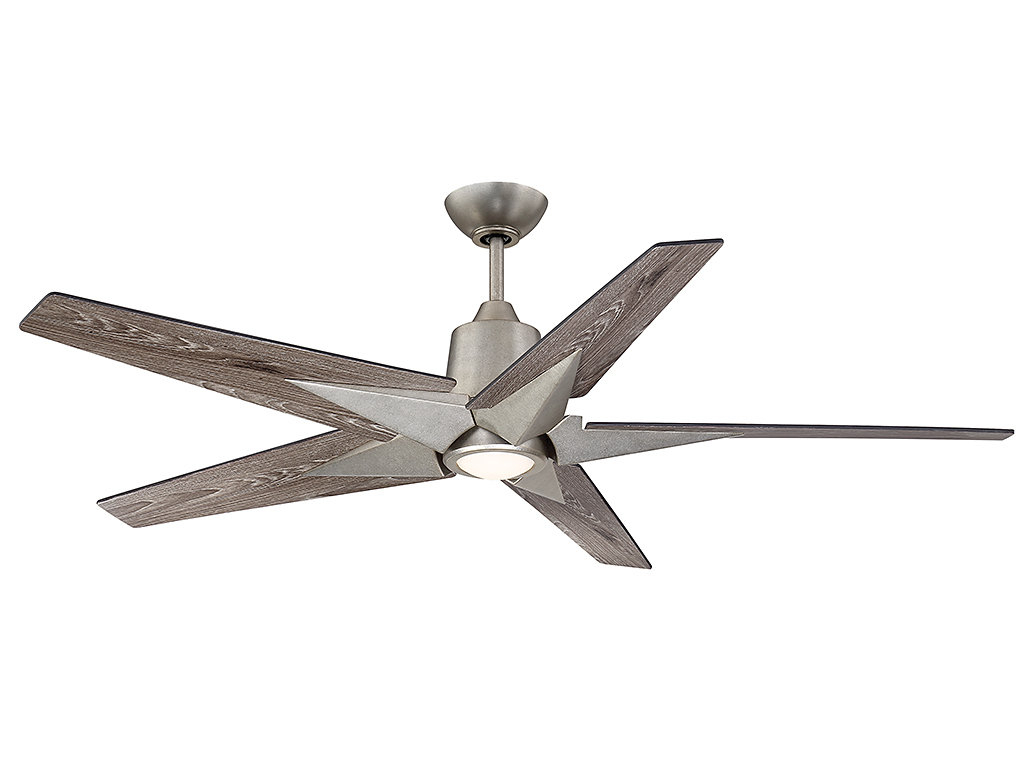 Well Known 56'' St Annes Kenham 5 Blade Led Ceiling Fan With Remote, Light Kit Included Throughout Symbio 5 Blade Led Ceiling Fans (View 19 of 20)