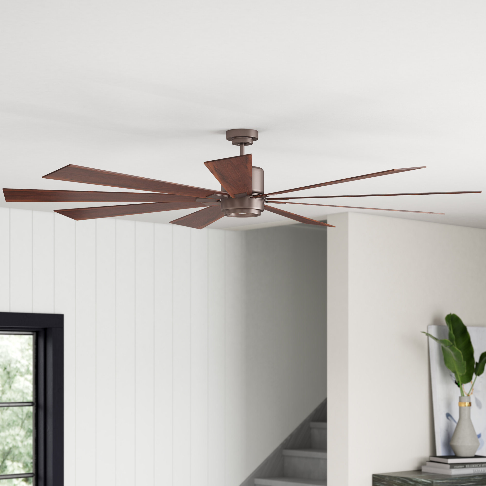 "Well Known 72"" Mcdavid 9 Blade Led Ceiling Fan With Remote, Light Kit Included For Bankston 8 Blade Led Ceiling Fans (View 11 of 20)"