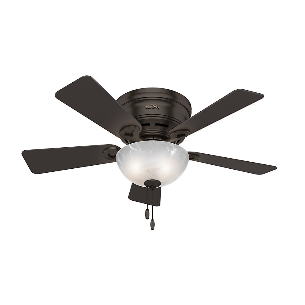 """Well Known Banyan 5 Blade Ceiling Fans With Hunter Fan 42"""" Haskell 5 Blade Ceiling Fan With Light (View 16 of 20)"""