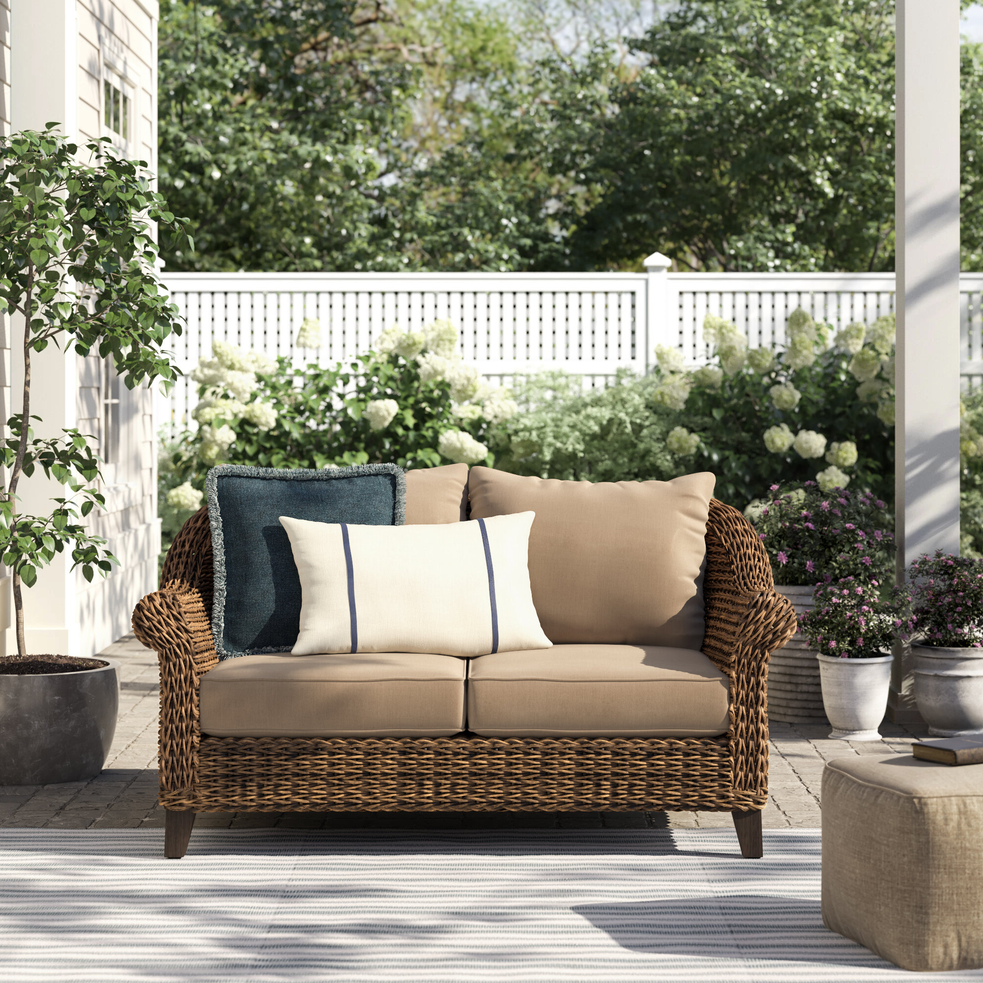 Well Known Beckwith Loveseat With Cushion Pertaining To Alburg Loveseats With Cushions (View 10 of 25)