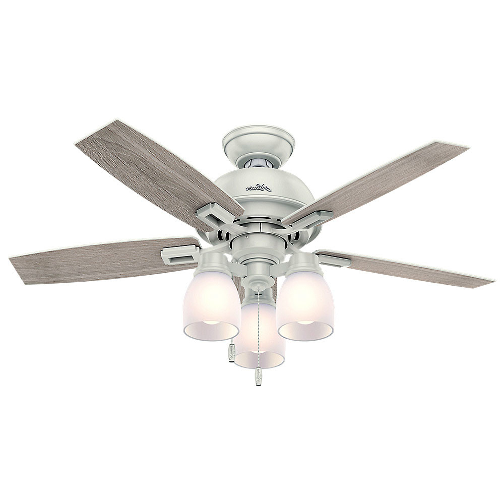 "Well Known Donegan 5 Blade Led Ceiling Fans Regarding Details About Hunter Donegan 44 3 Bell 44"" Ceiling Fan – 5 Reversible Blades And Led Light (View 10 of 20)"
