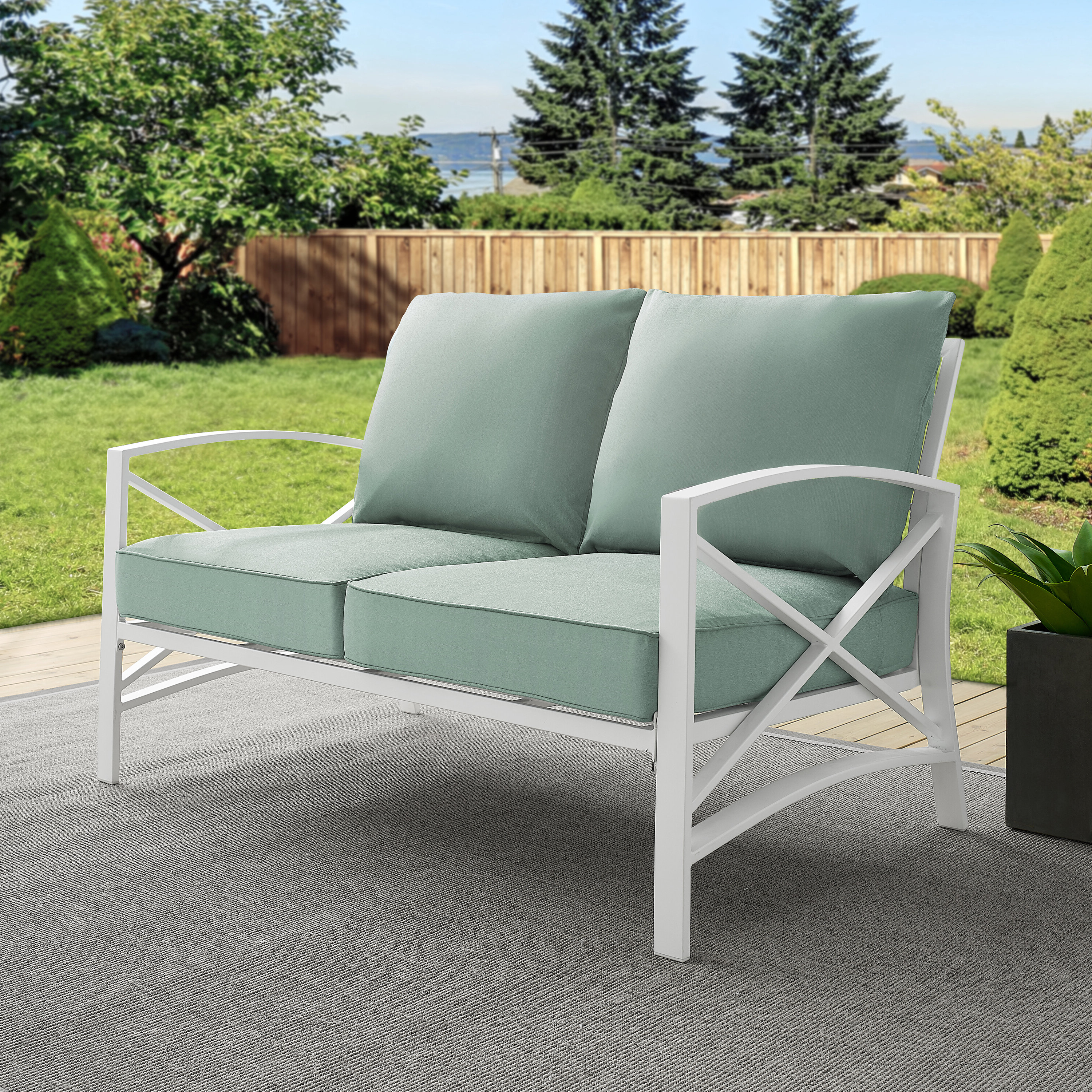 Well Known Freitag Loveseat With Cushions In Mendelson Loveseats With Cushion (View 18 of 20)