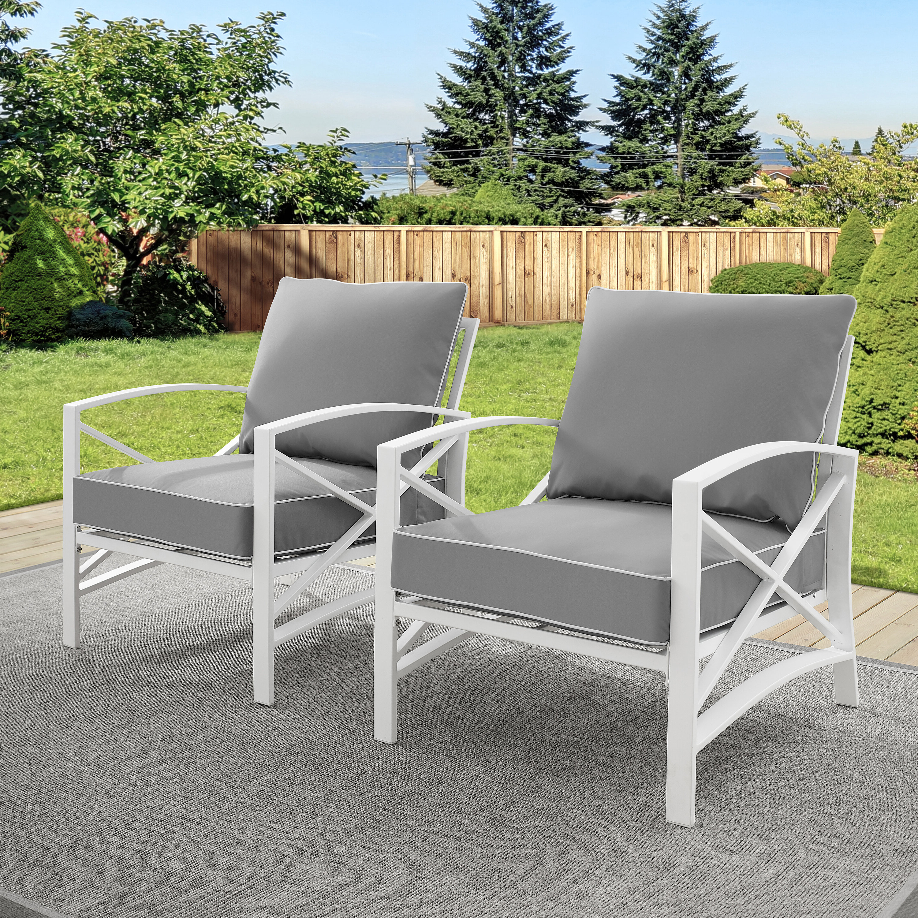 Well Known Freitag Patio Chair With Cushions With Hursey Patio Sofas (View 10 of 20)