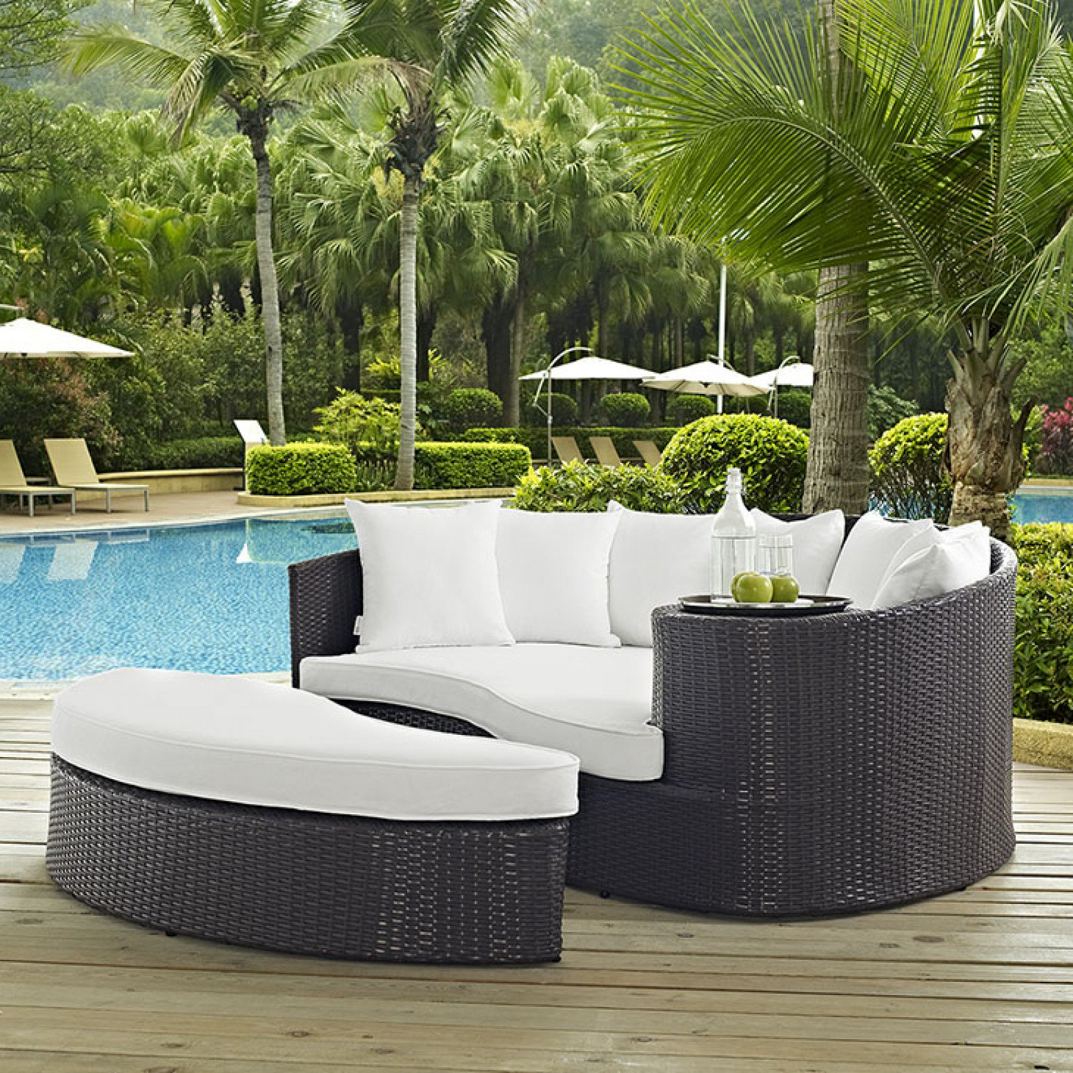 Well Known Furniture: Cool Patio Daybed With Alluring Cushions For For Behling Canopy Patio Daybeds With Cushions (View 18 of 25)