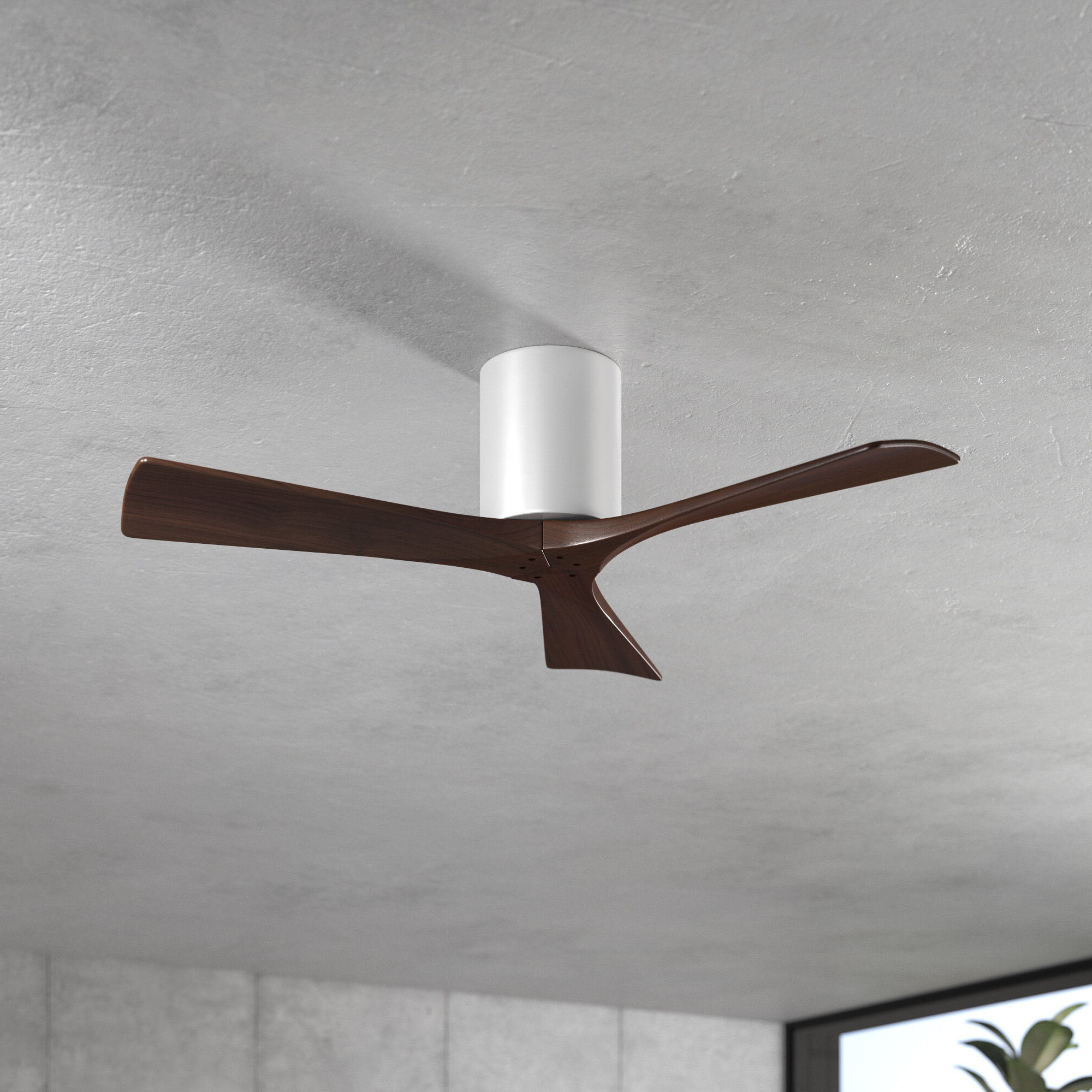 "Well Known Hedin 3 Blade Hugger Ceiling Fans Within 42"" Rosalind 3 Blade Hugger Ceiling Fan (View 5 of 20)"