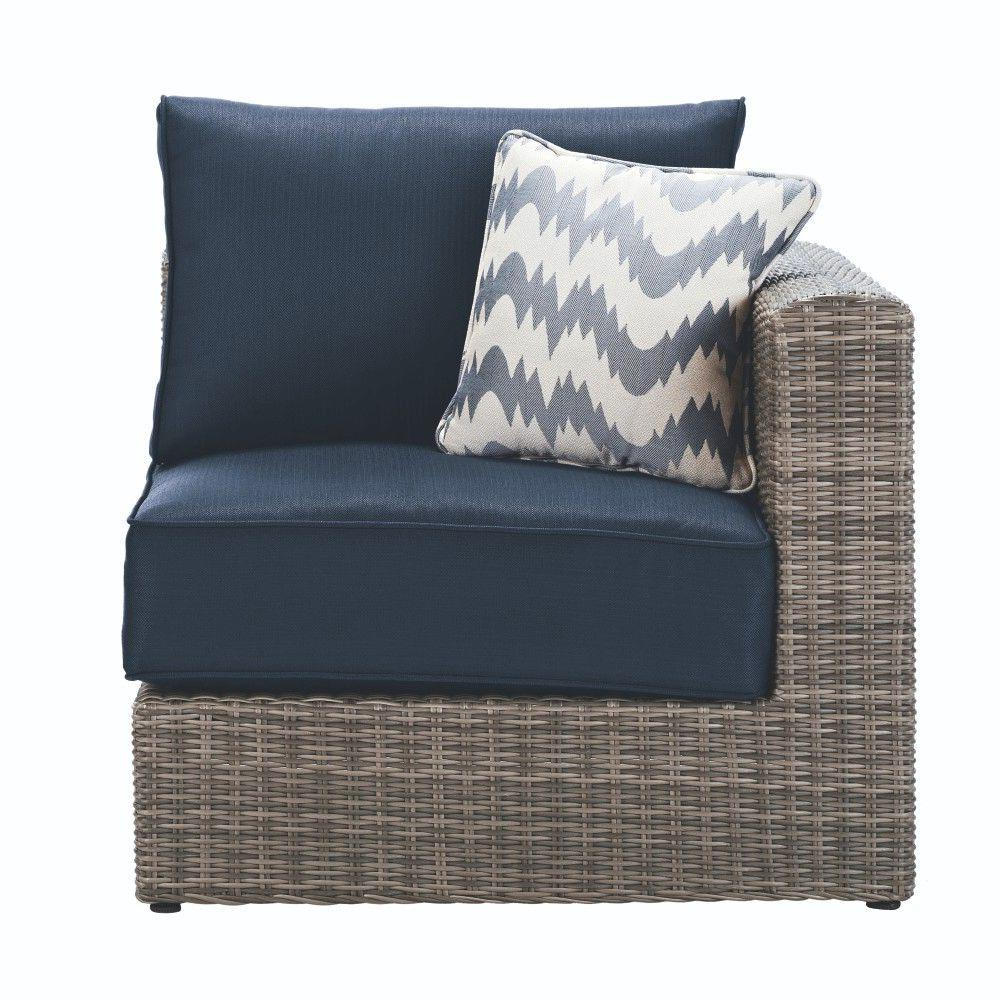 Well Known Home Decorators Collection Naples Grey All Weather Wicker Throughout Belton Patio Sofas With Cushions (View 22 of 25)