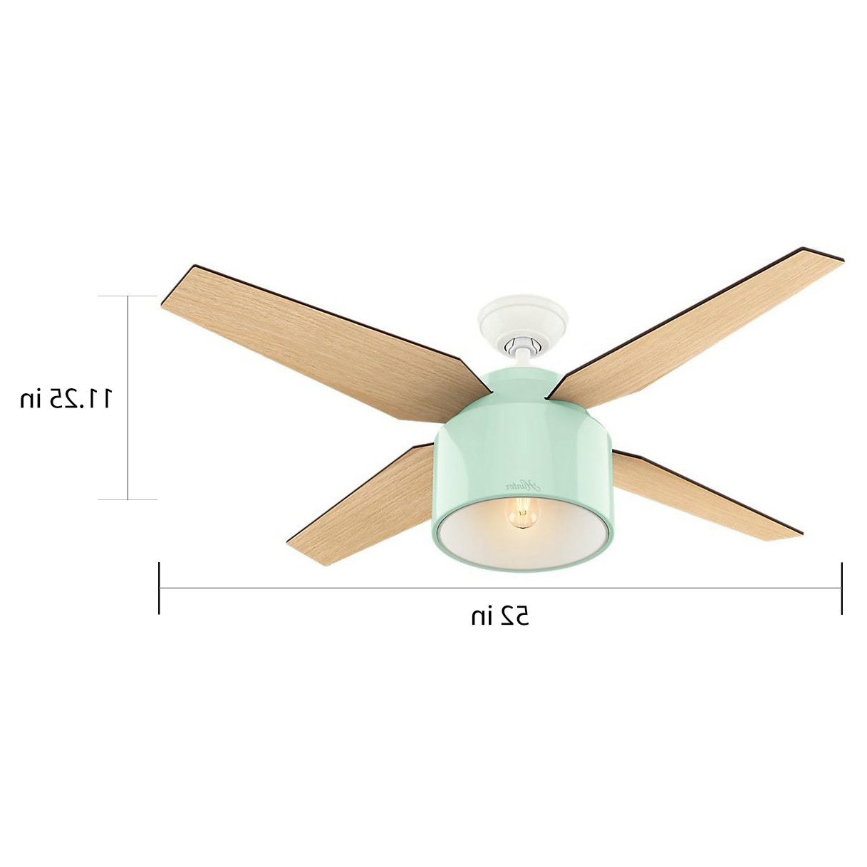 Well Known Hunter Fan Cranbrook Collection 52 Inch Mint/tan Metal/plastic Ceiling Fan With Regard To Cranbrook 4 Blade Ceiling Fans (View 18 of 20)
