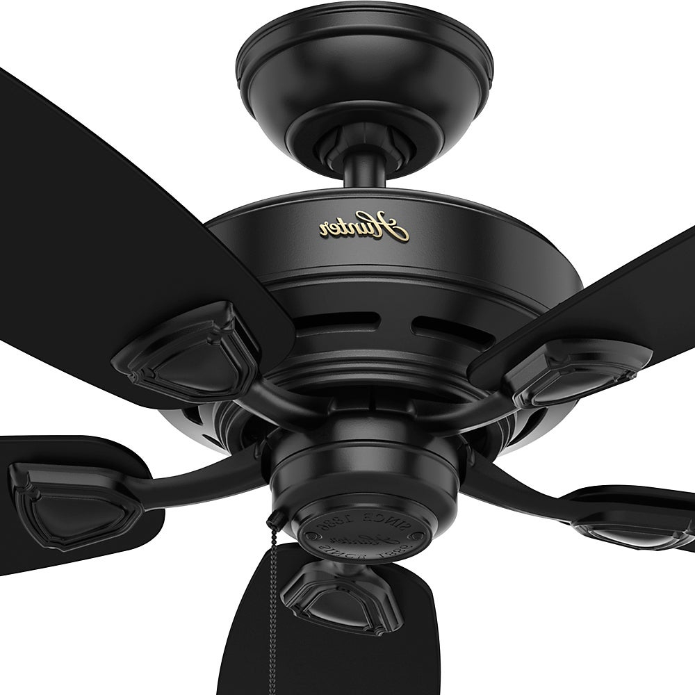 Well Known Hunter Sea Wind Collection Matte Black 48 Inch 5 Matte Black Plastic Blades Ceiling Fan For Sea Wind 5 Blade Ceiling Fans (View 13 of 20)