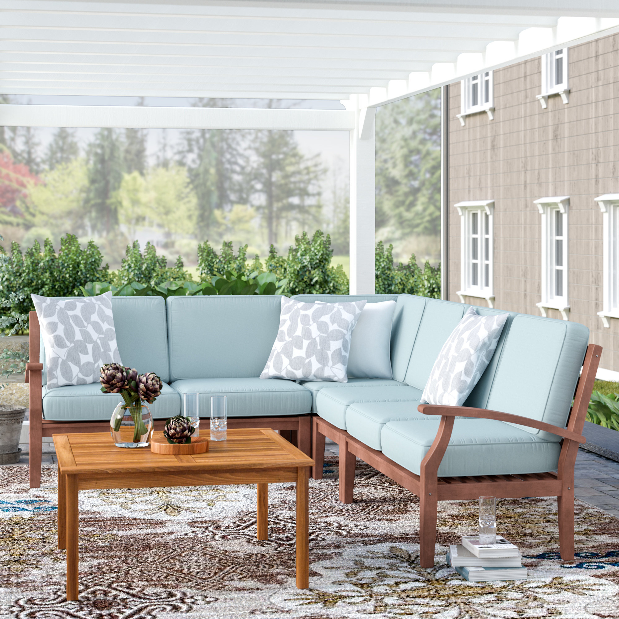 Well Known Hursey Patio Sectional Intended For Corentin Patio Sofas (View 19 of 20)